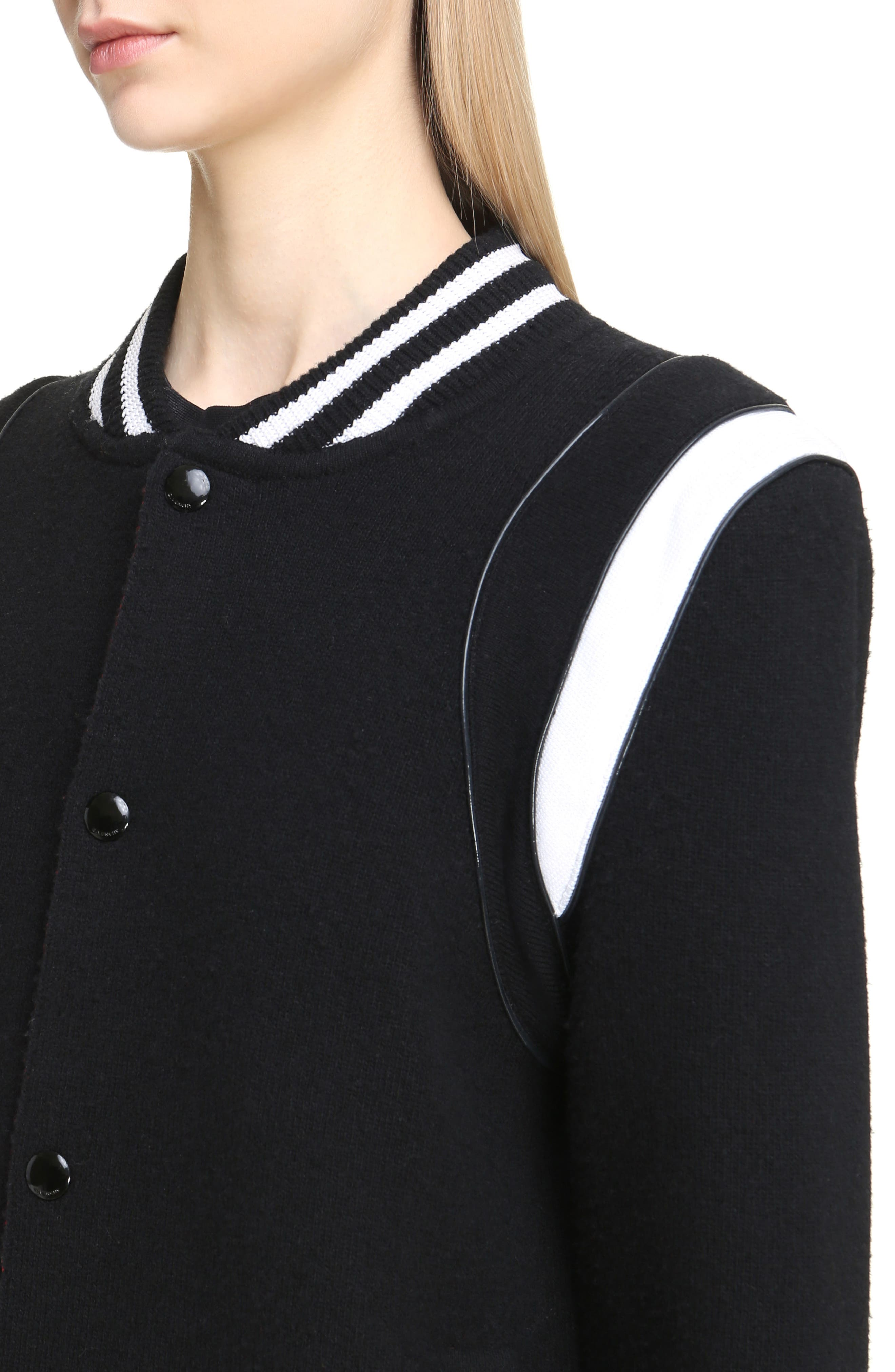 Alternate Image 5  - Givenchy Contrast Knit Trim Logo Bomber Jacket