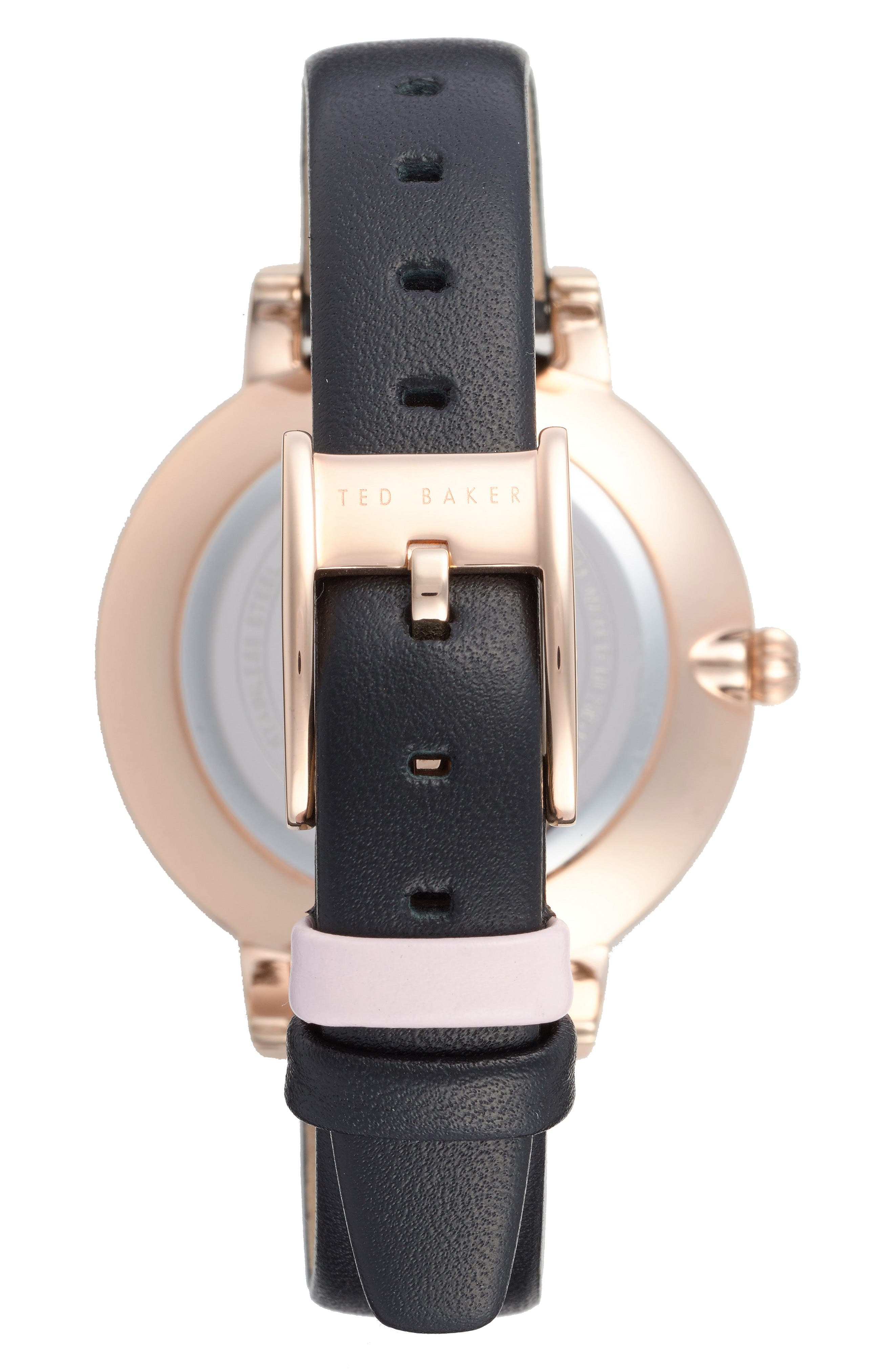 Alternate Image 2  - Ted Baker London Kate Leather Strap Watch, 38mm