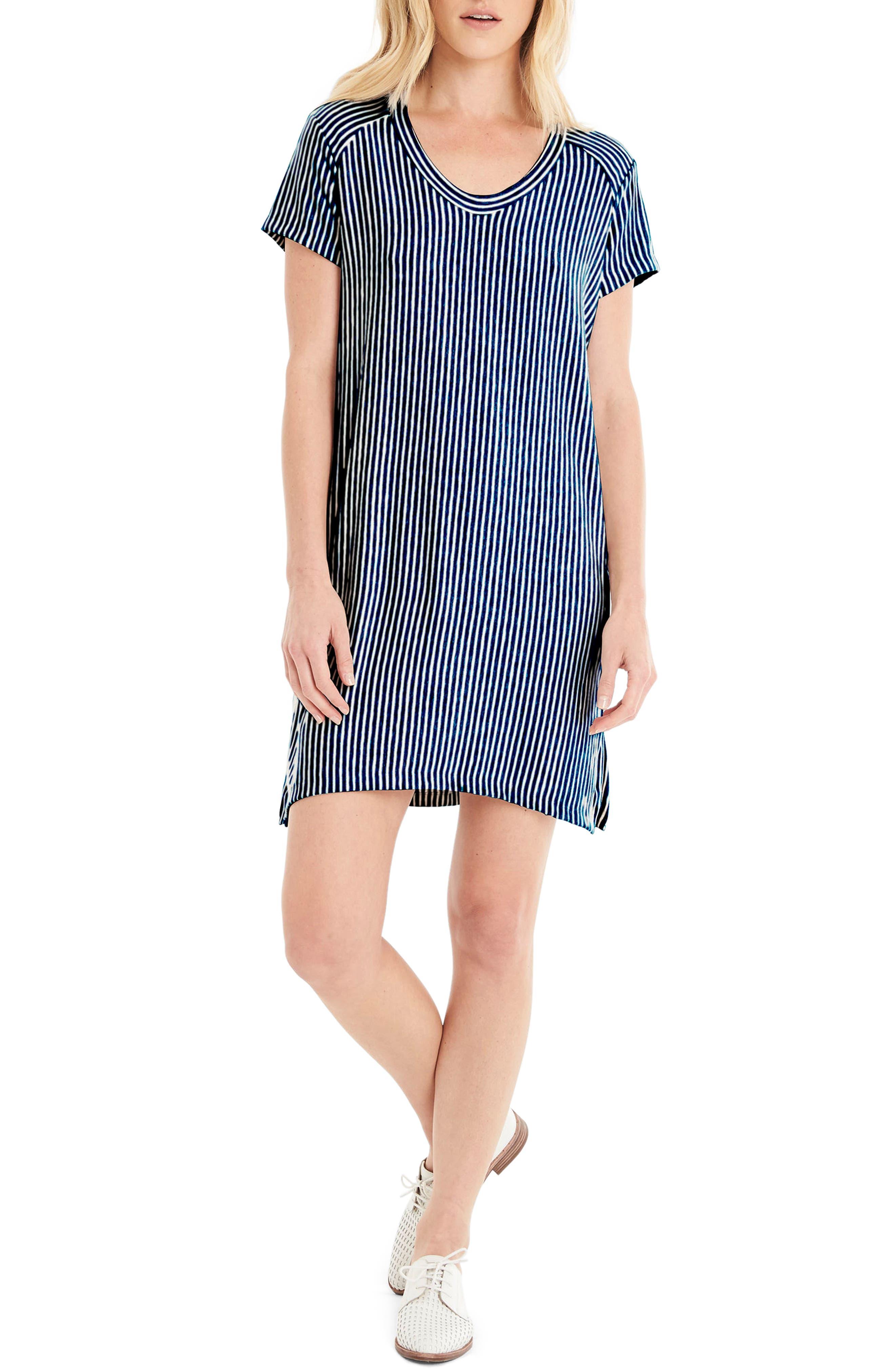 Alternate Image 1 Selected - Michael Stars Stripe Sweatshirt Dress