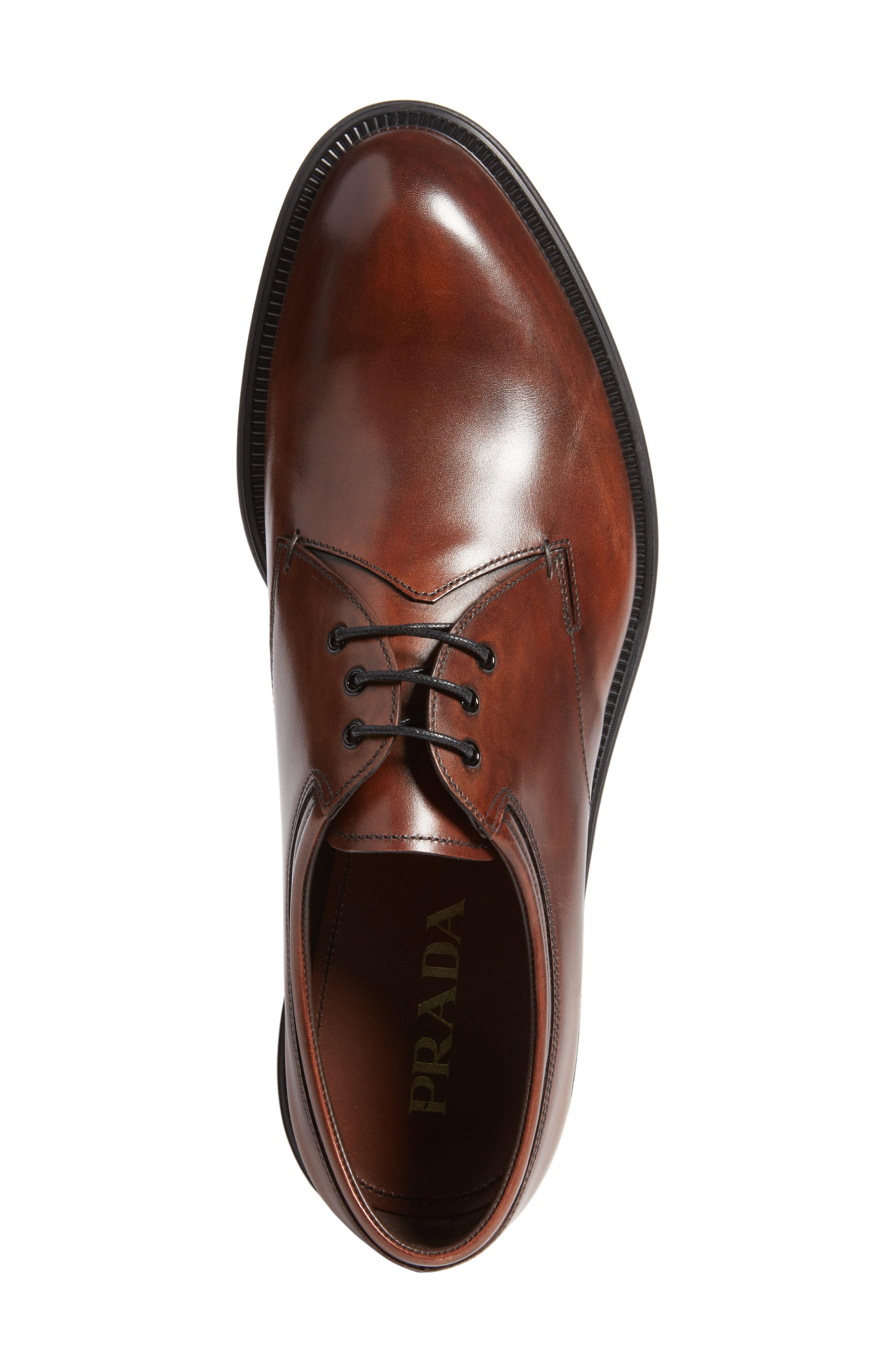 Alternate Image 5  - Prada Plain Toe Derby (Men)