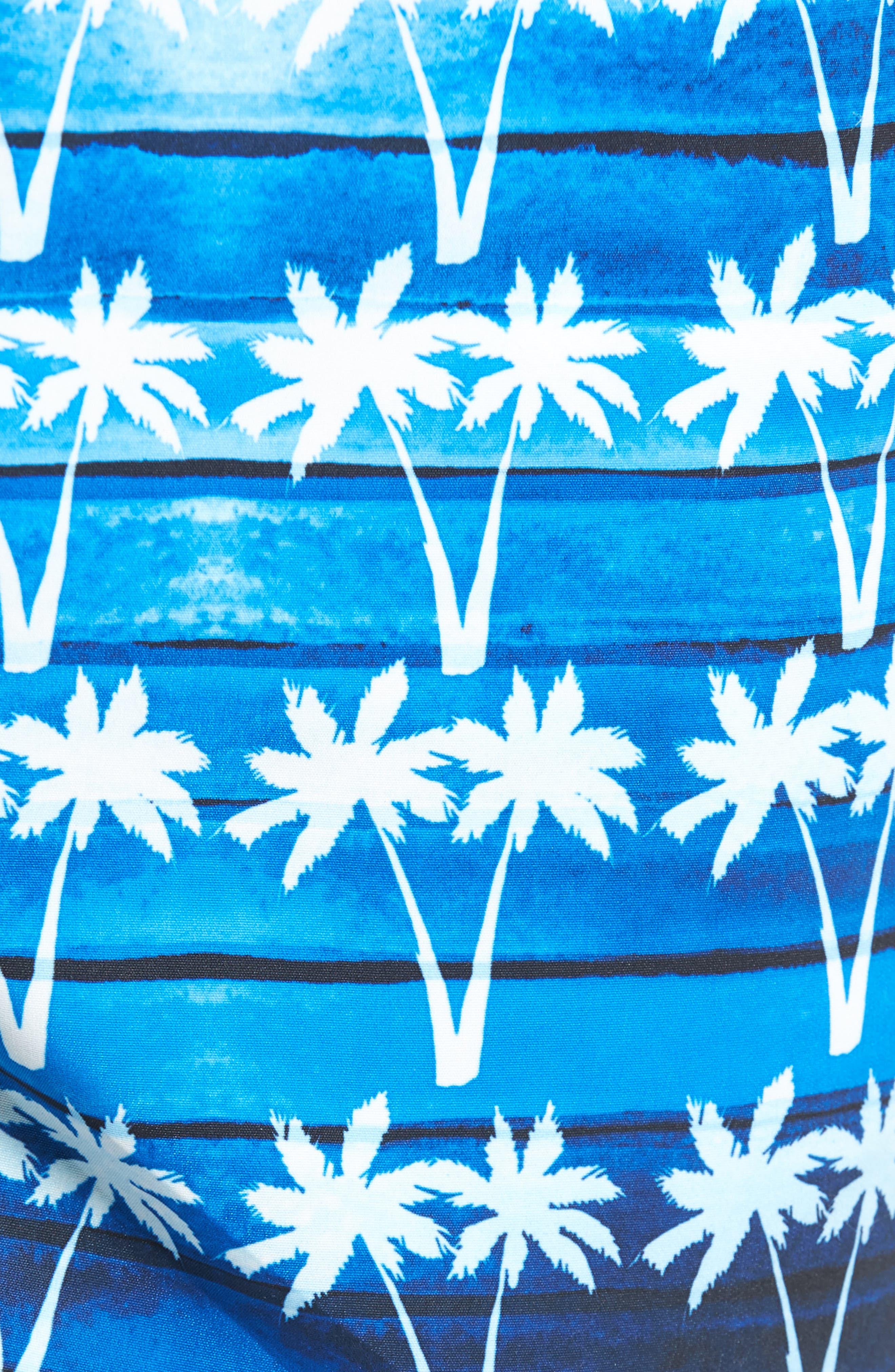 Alternate Image 5  - Bugatchi Print Swim Trunks