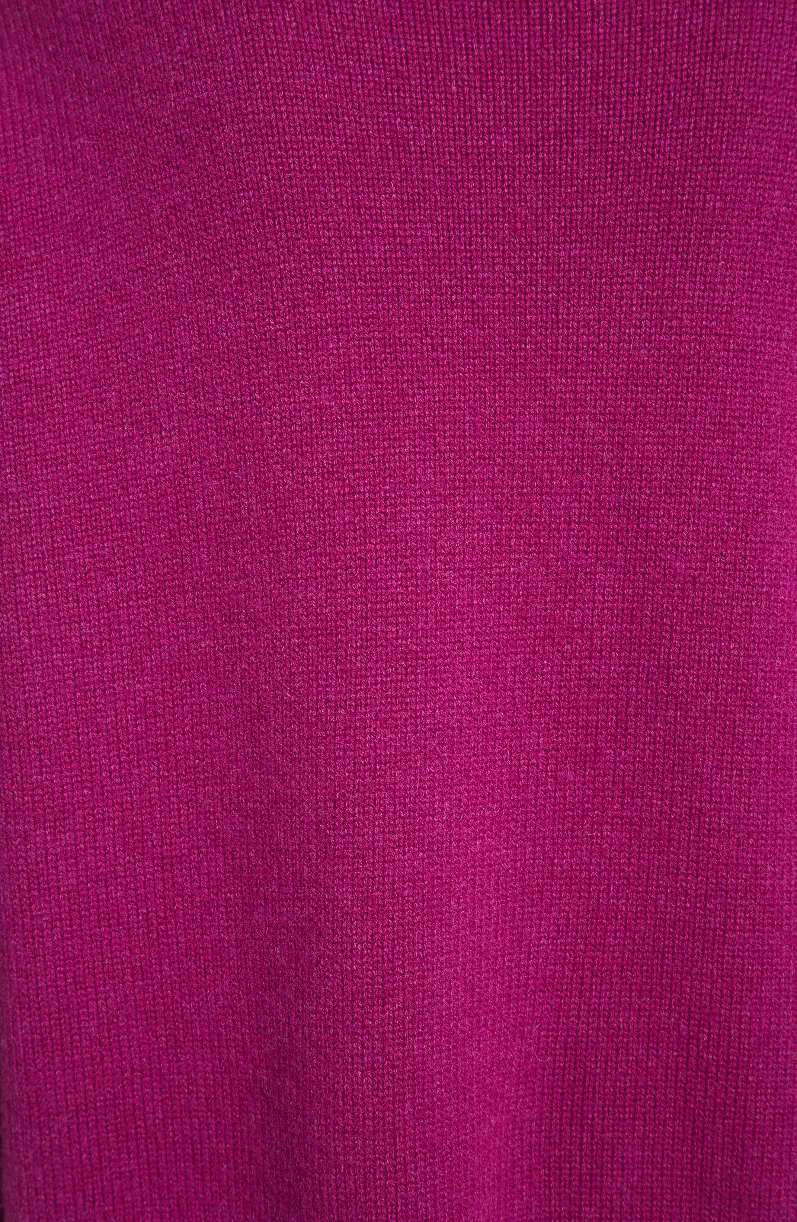 Karenia R Cashmere Sweater,                             Alternate thumbnail 5, color,                             Fuschia