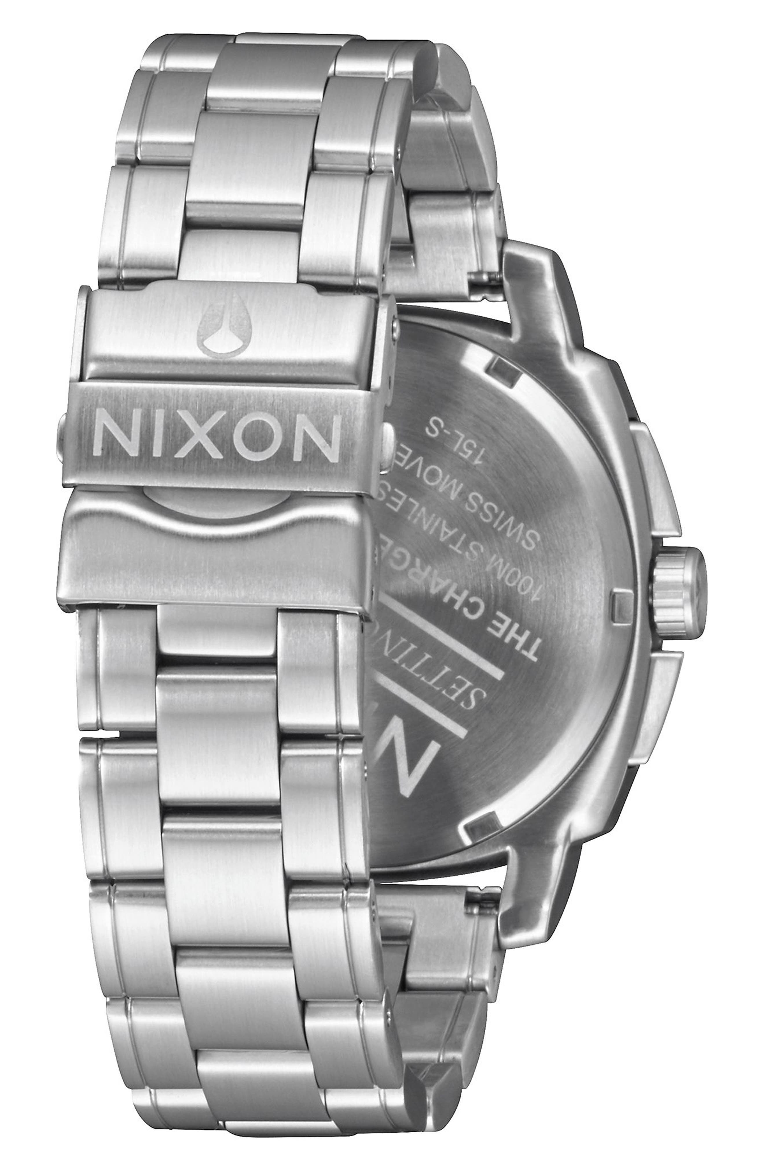 Alternate Image 3  - Nixon Charger Chronograph Bracelet Watch, 42mm