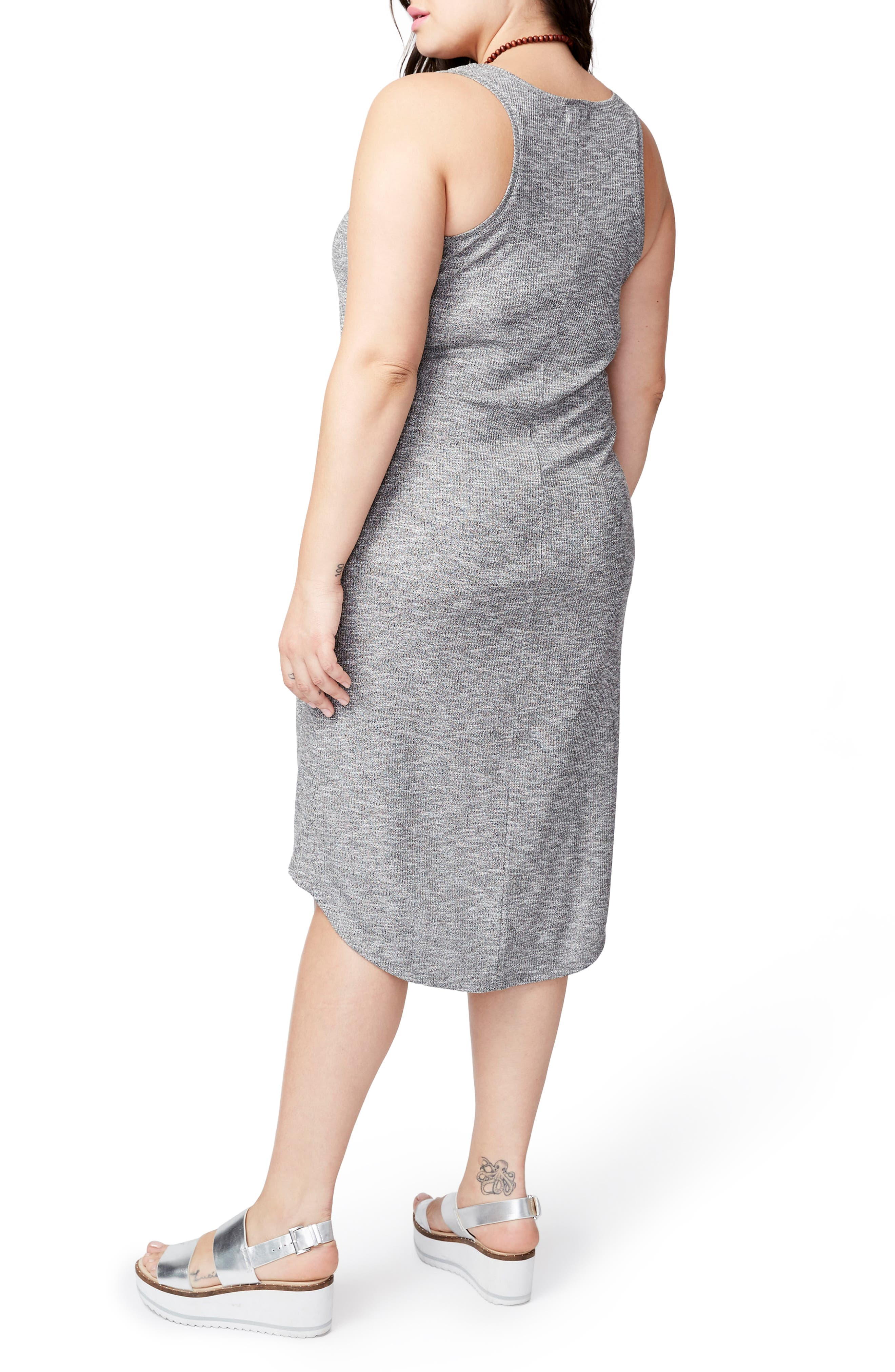 Michelle Tank Dress,                             Alternate thumbnail 2, color,                             Heather Grey