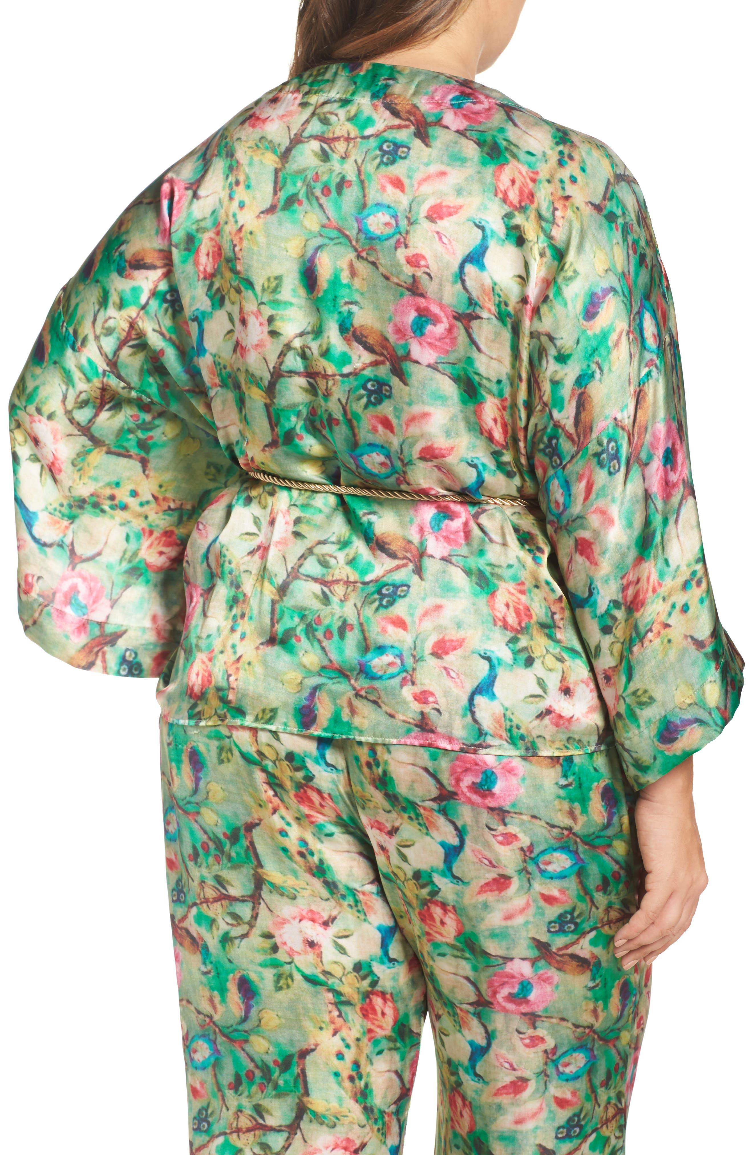 Alternate Image 4  - ELVI Beleted Floral Komono Jacket