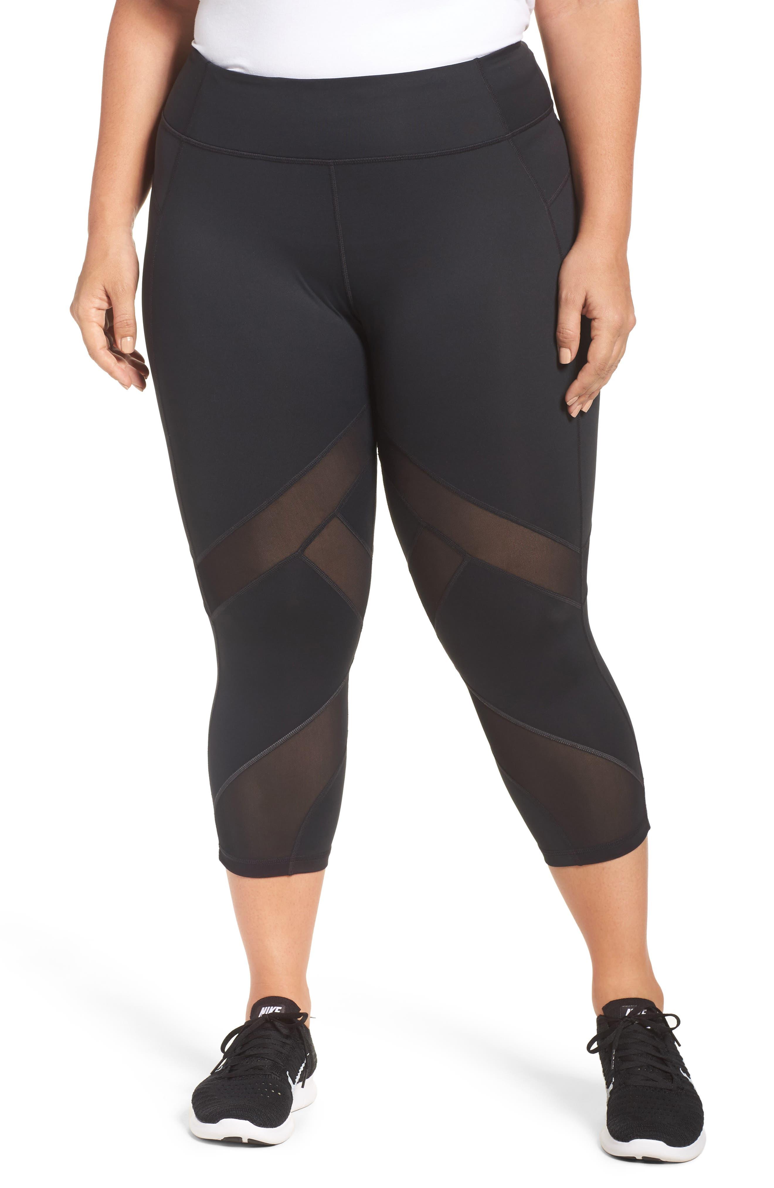 Sprint Crop Leggings,                         Main,                         color, Black