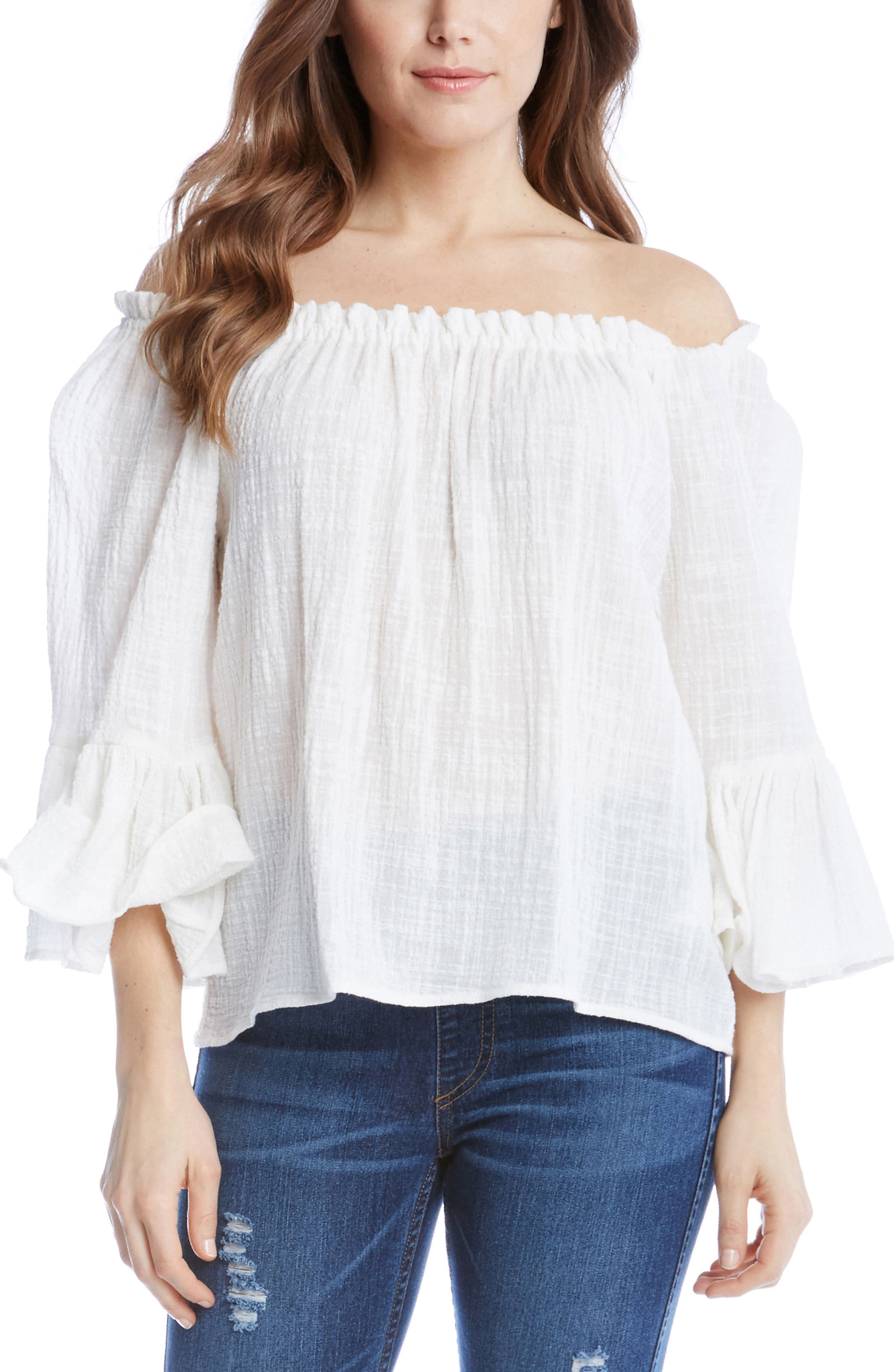 Main Image - Karen Kane Convertible Off the Shoulder Top