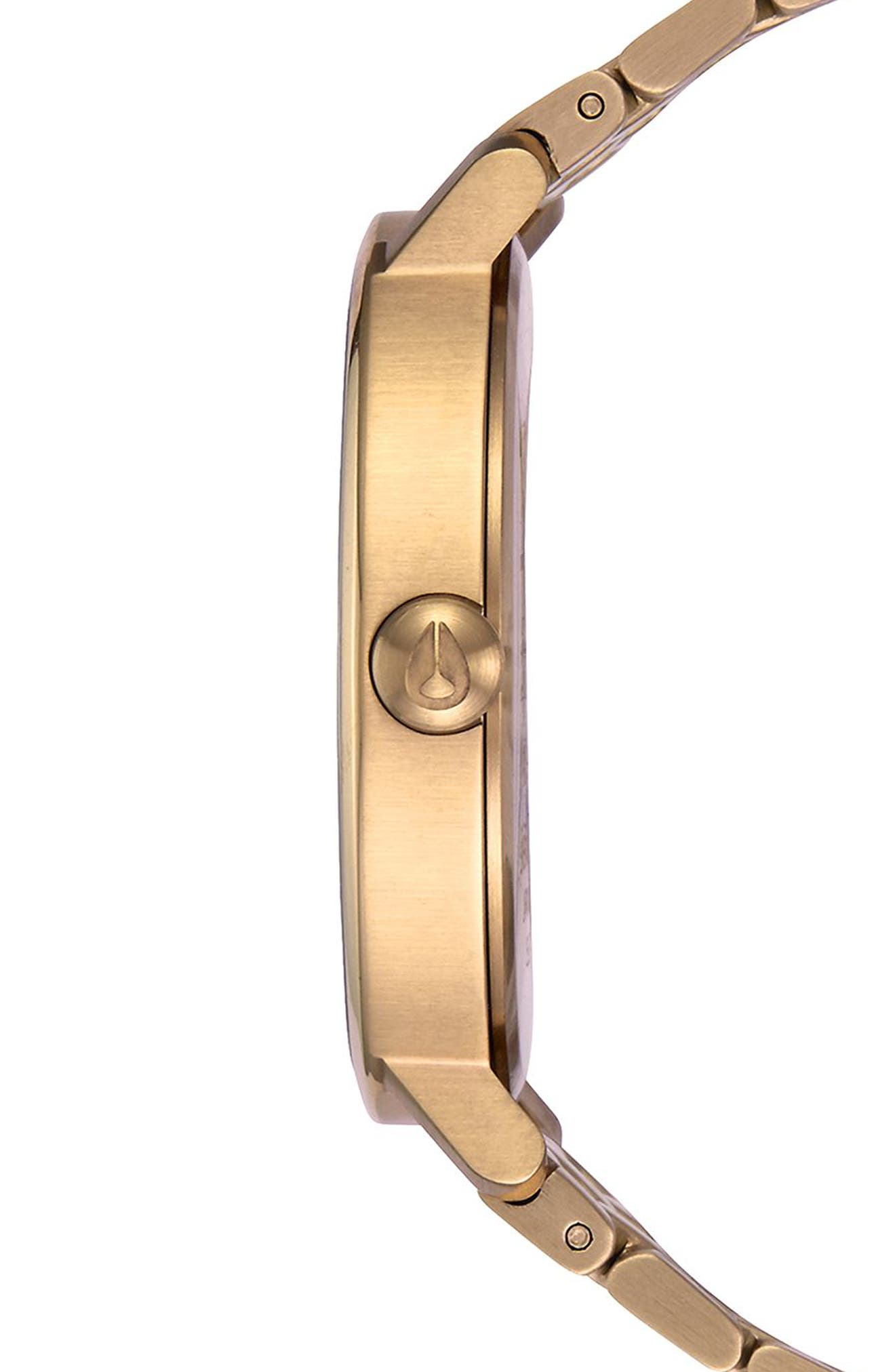 The Arrow Bracelet Watch, 38mm,                             Alternate thumbnail 3, color,                             Gold/ White/ Gold