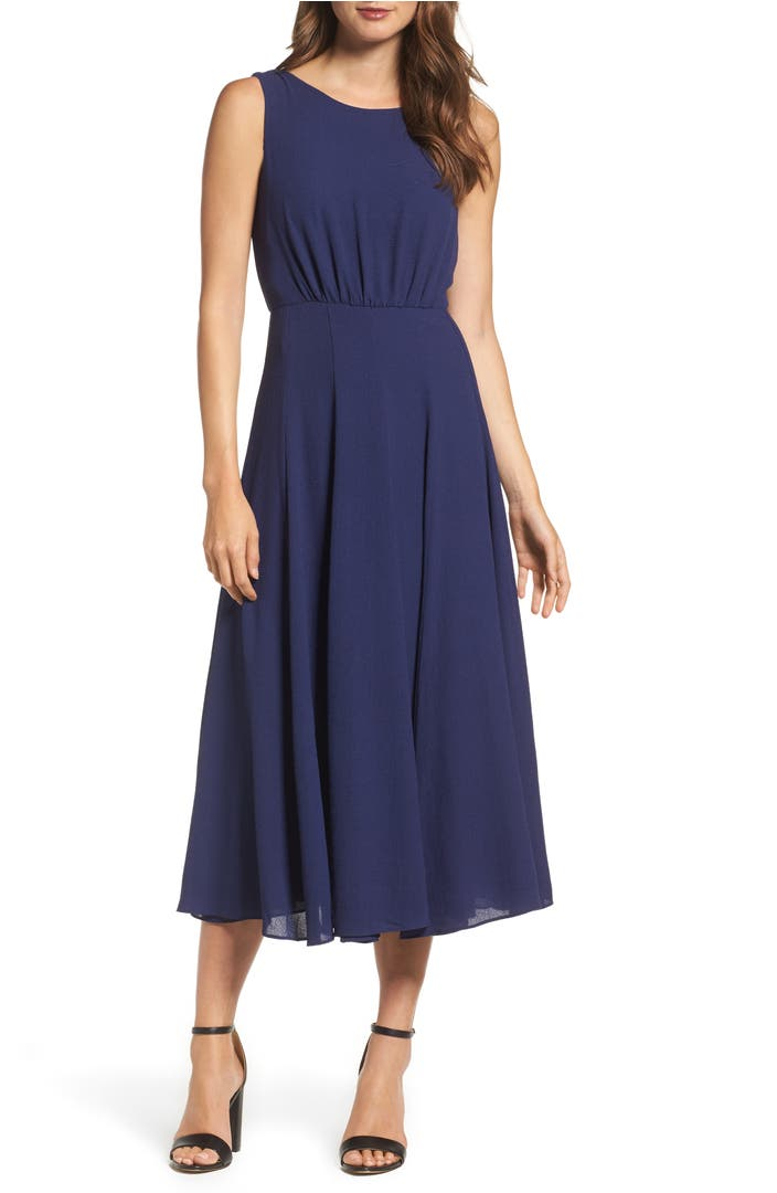 Betsey Johnson Pebble Crepe Midi Dress Nordstrom