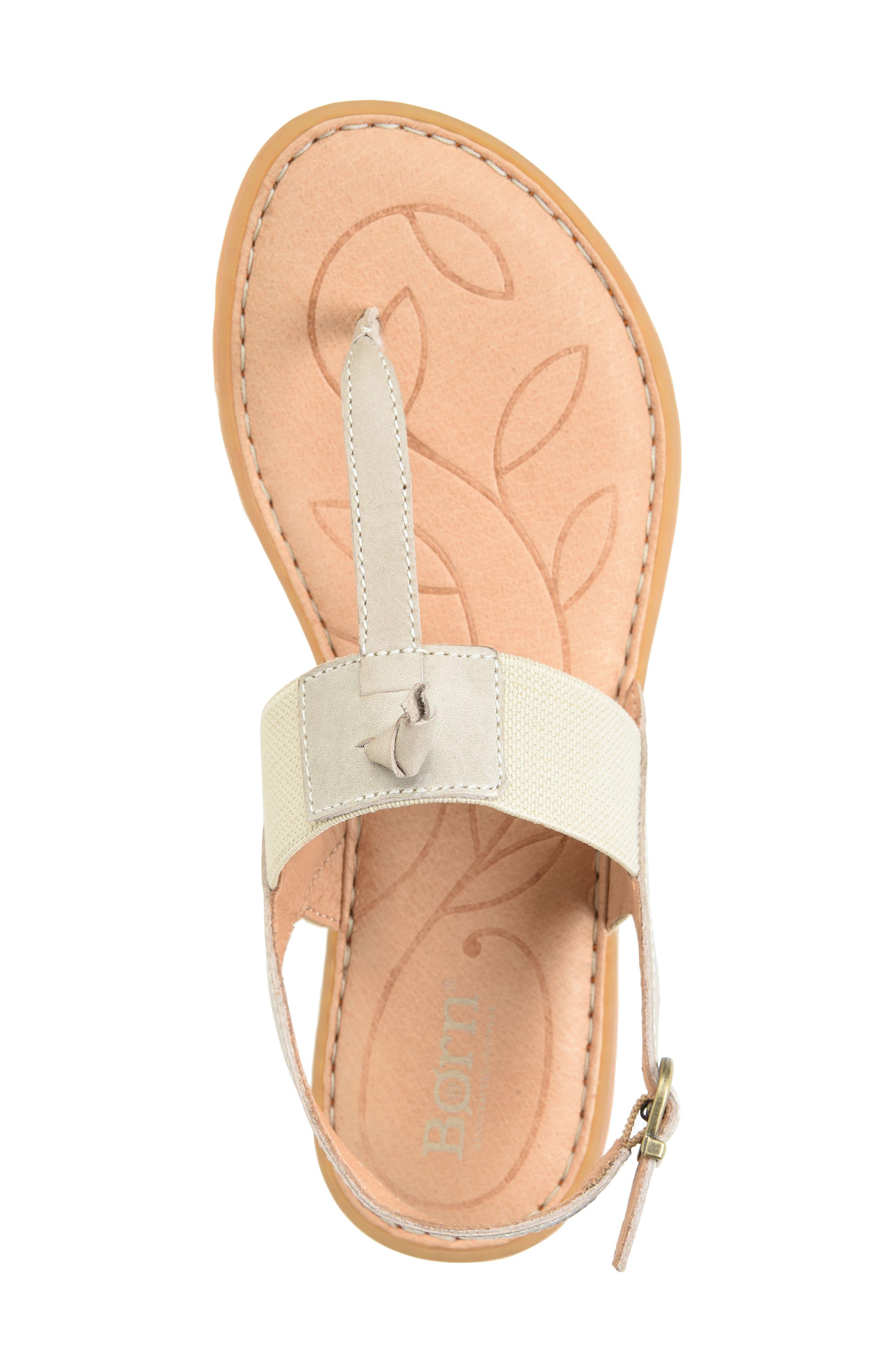 Siri Sandal,                             Alternate thumbnail 3, color,                             Cream Leather