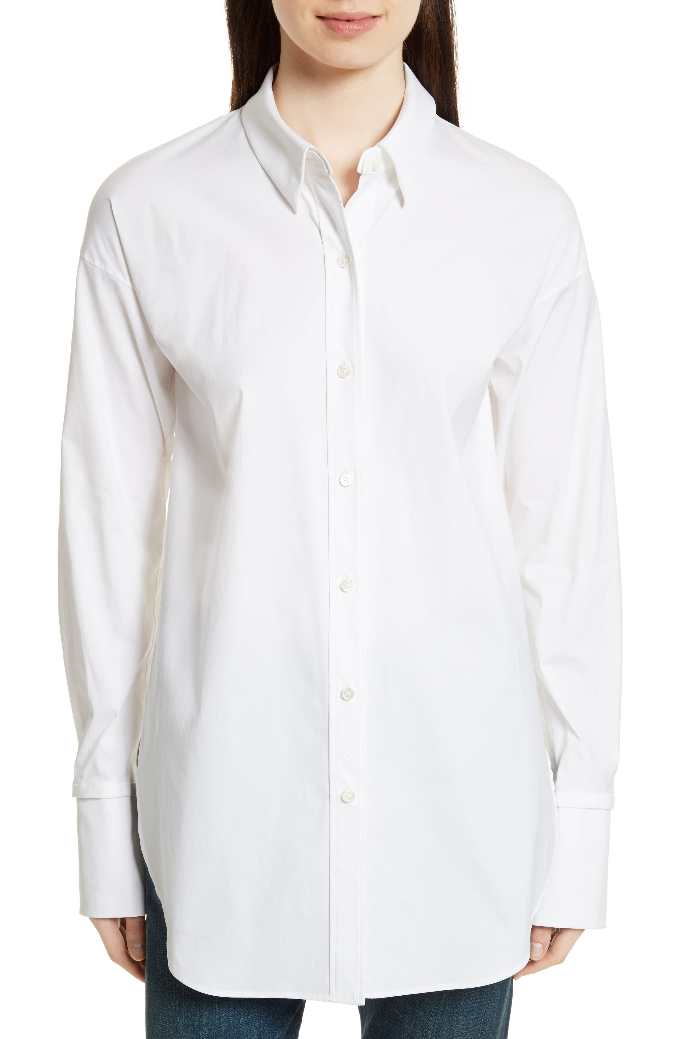 Cotton Poplin Boy Tunic,                         Main,                         color, White