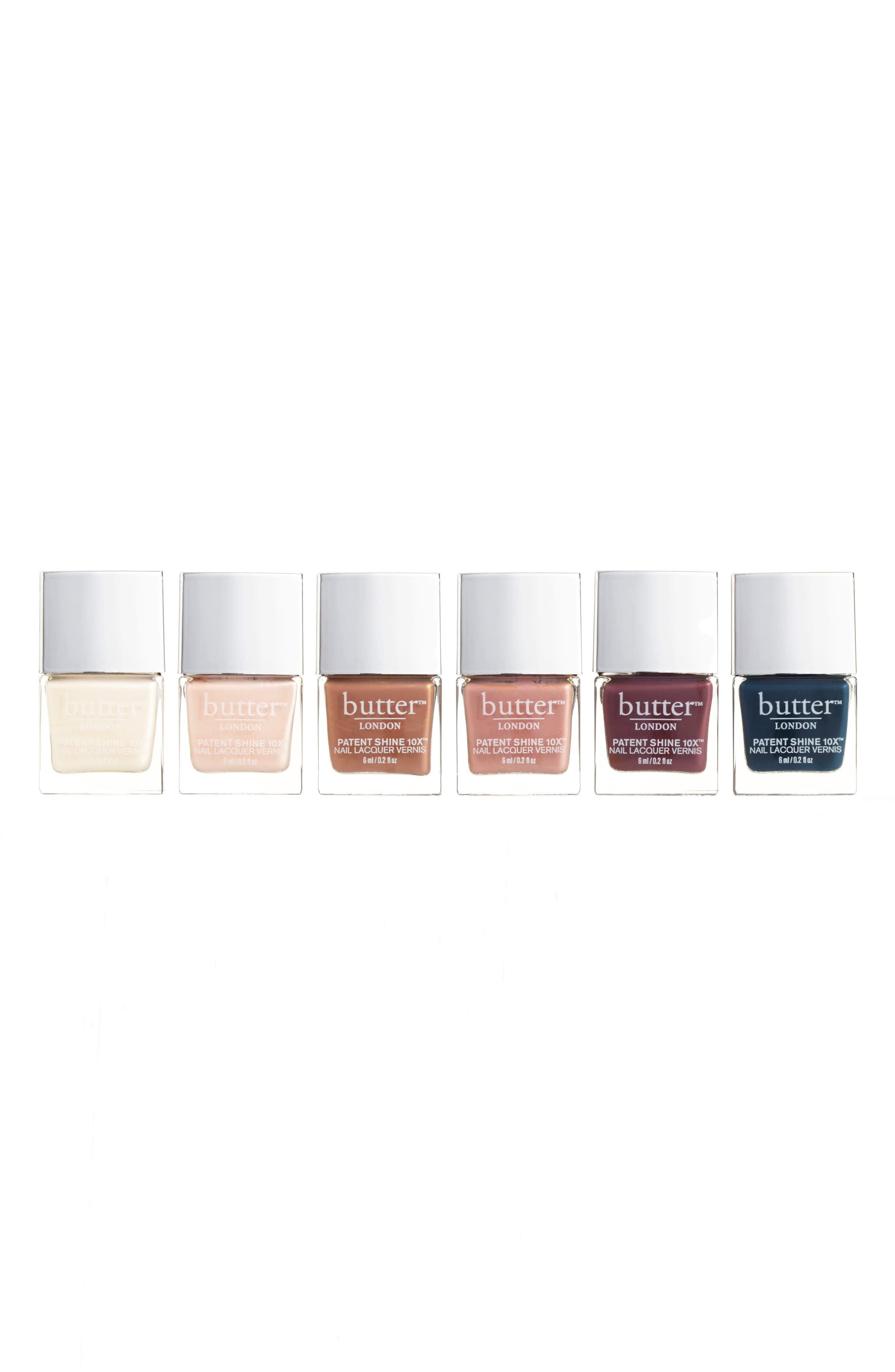 butter LONDON Cashmere Cremes Patent Shine 10X® Nail Lacquer Set ($72 Value)