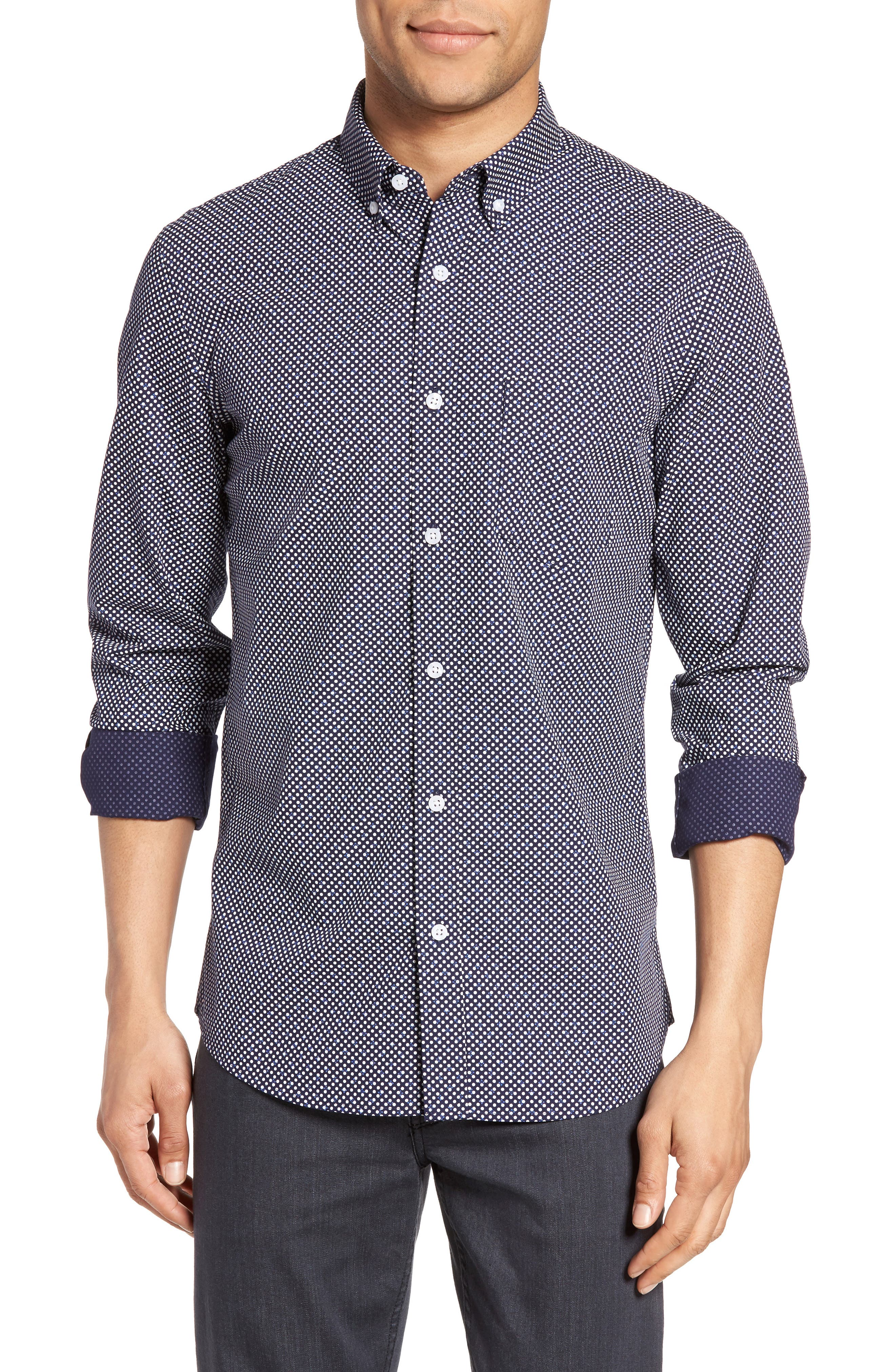 Nordstrom Men's Shop Trim Fit Non-Iron Dress Shirt (Regular & Tall)