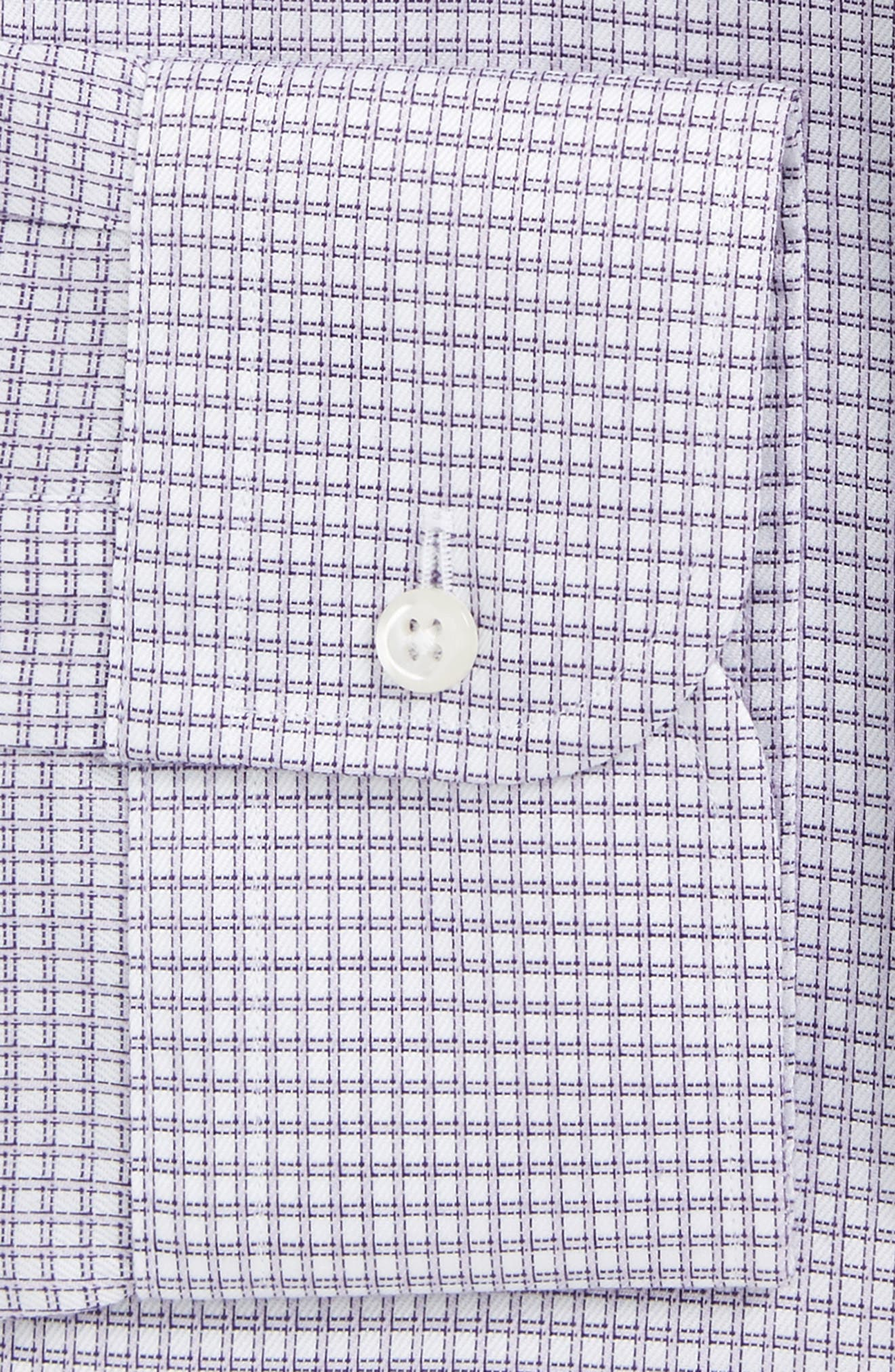 Smartcare<sup>™</sup> Trim Fit Check Dress Shirt,                             Alternate thumbnail 2, color,                             Purple Spray