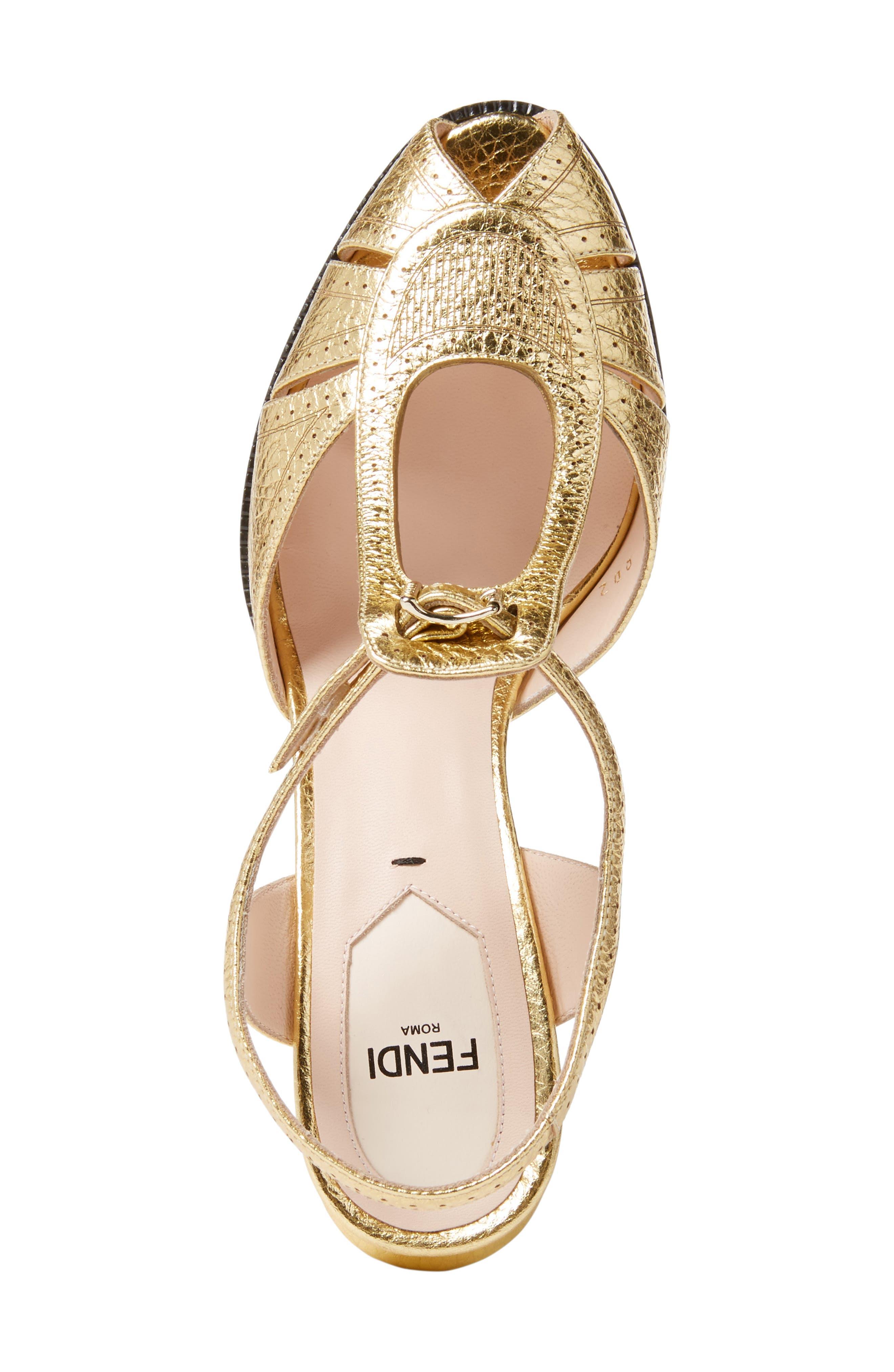 Alternate Image 4  - Fendi Chameleon Leather Sandal (Women)