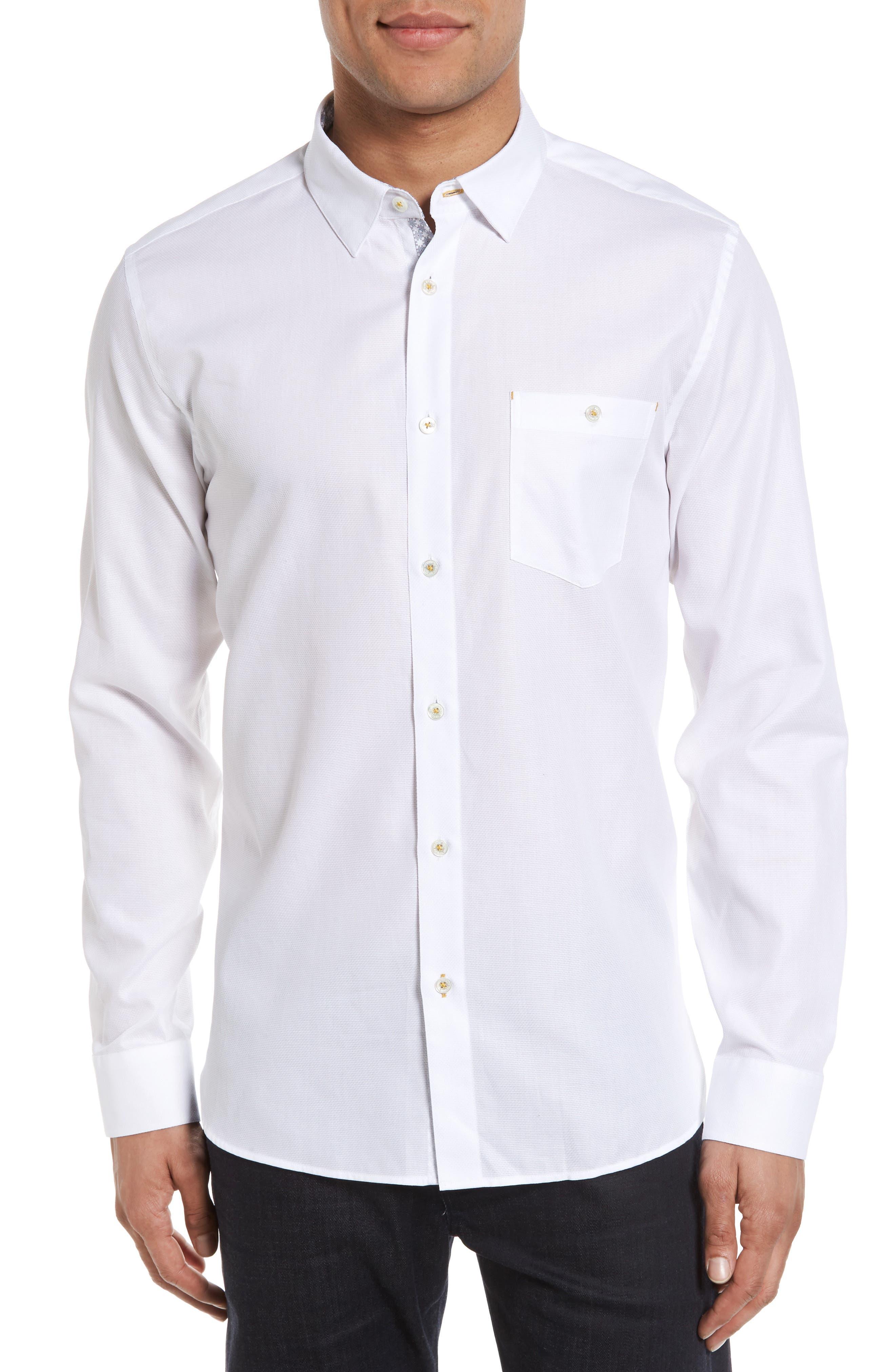 Alternate Image 1 Selected - Ted Baker London Nordlux Modern Slim Fit Stretch Cotton Sport Shirt