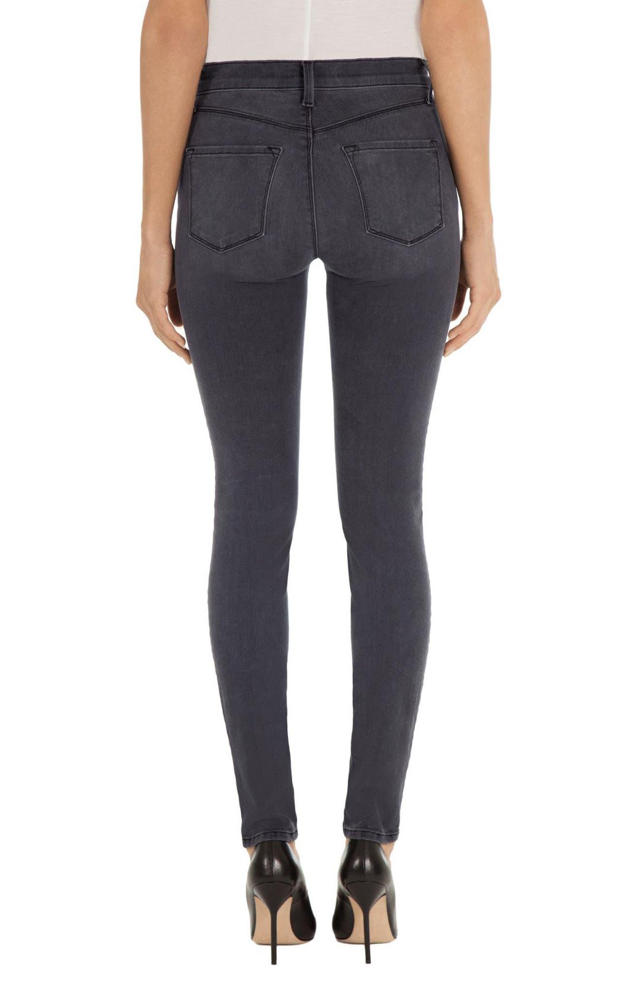 Alternate Image 2  - J Brand Maria High Waist Skinny Jeans (Nightbird)