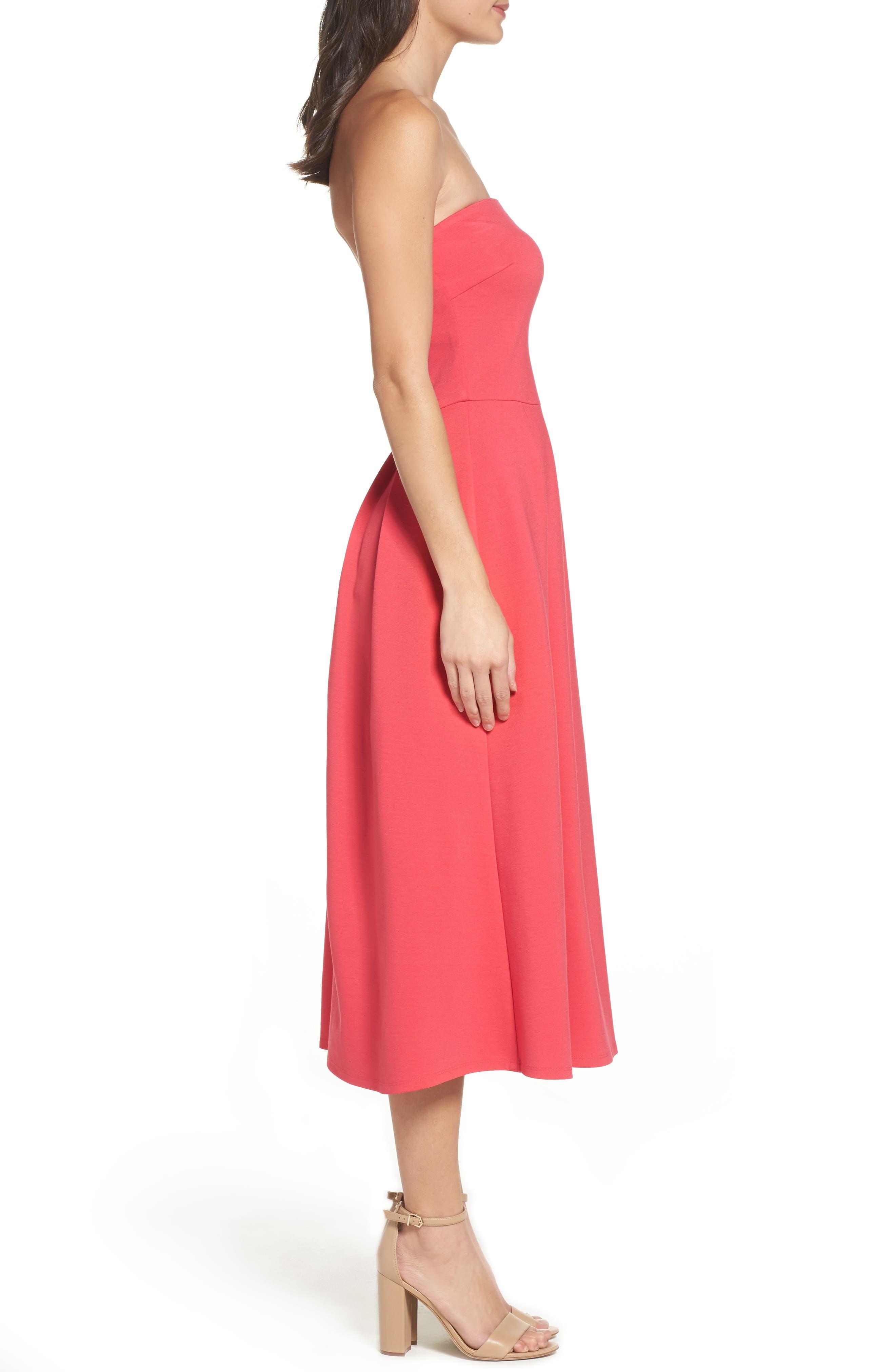 Alternate Image 3  - Charles Henry Strapless Midi Dress