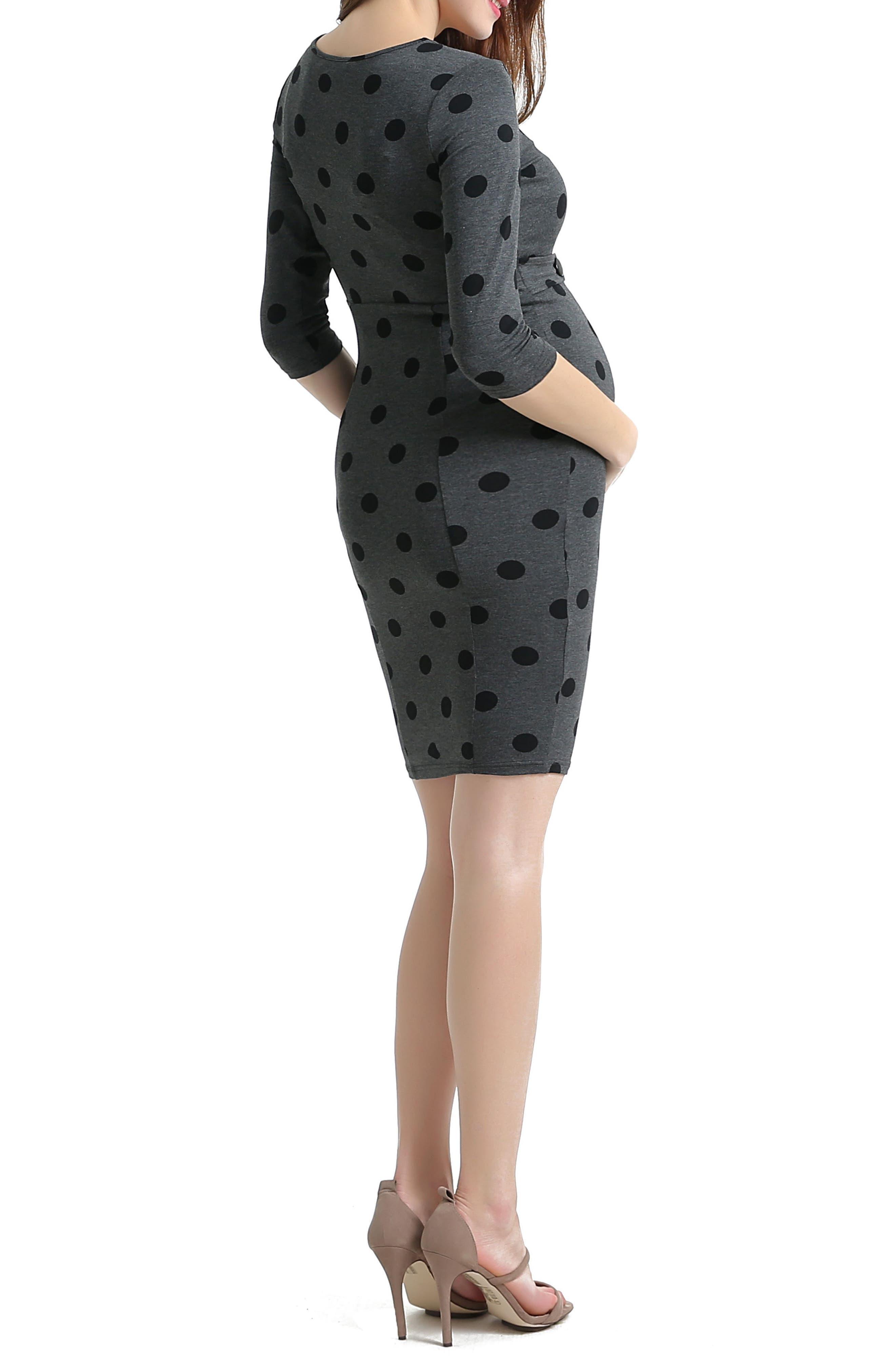 Alternate Image 2  - Kimi and Kai Pia Dot Maternity Dress