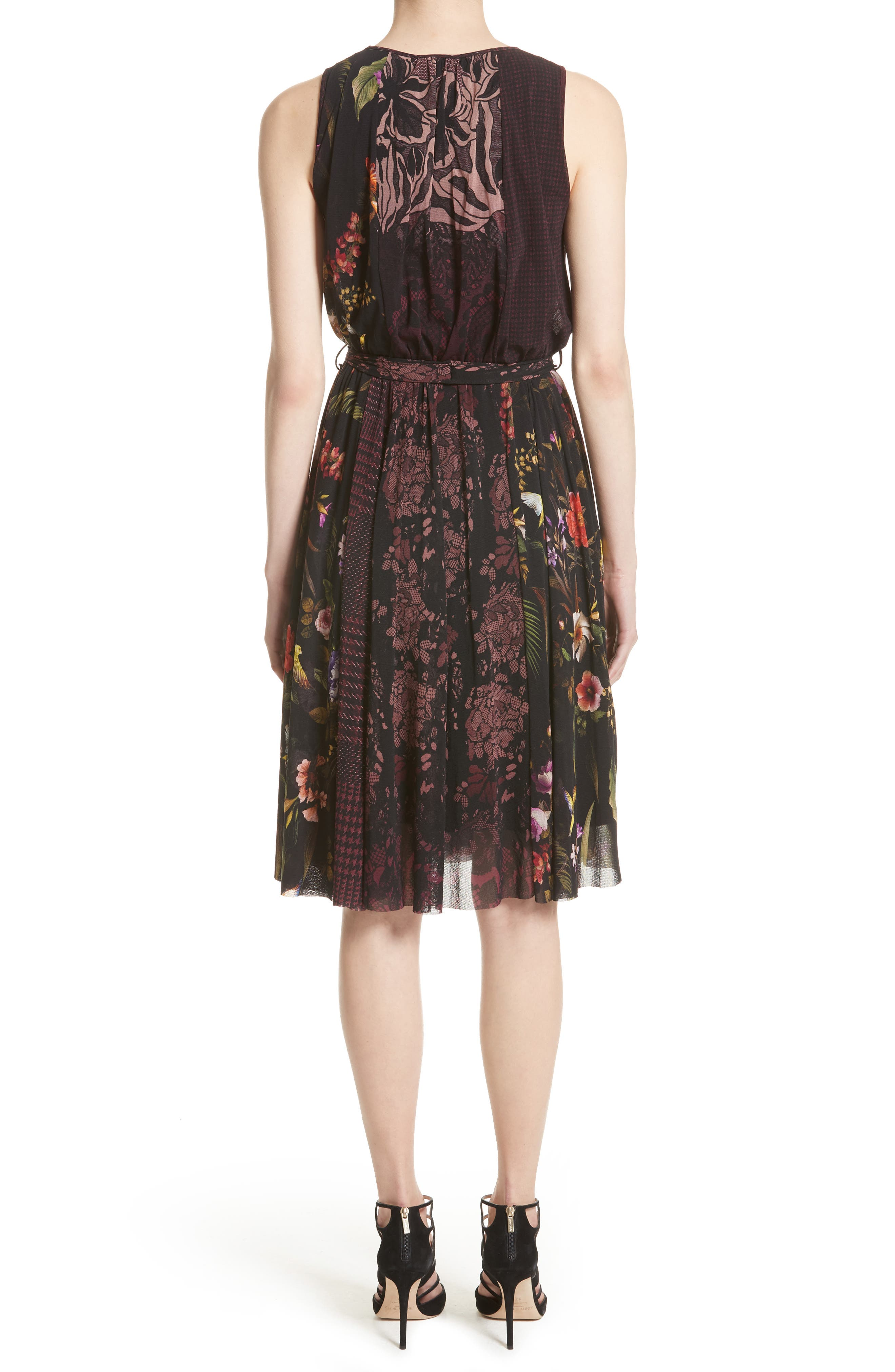 Belted Tulle Dress,                             Alternate thumbnail 2, color,                             Plum