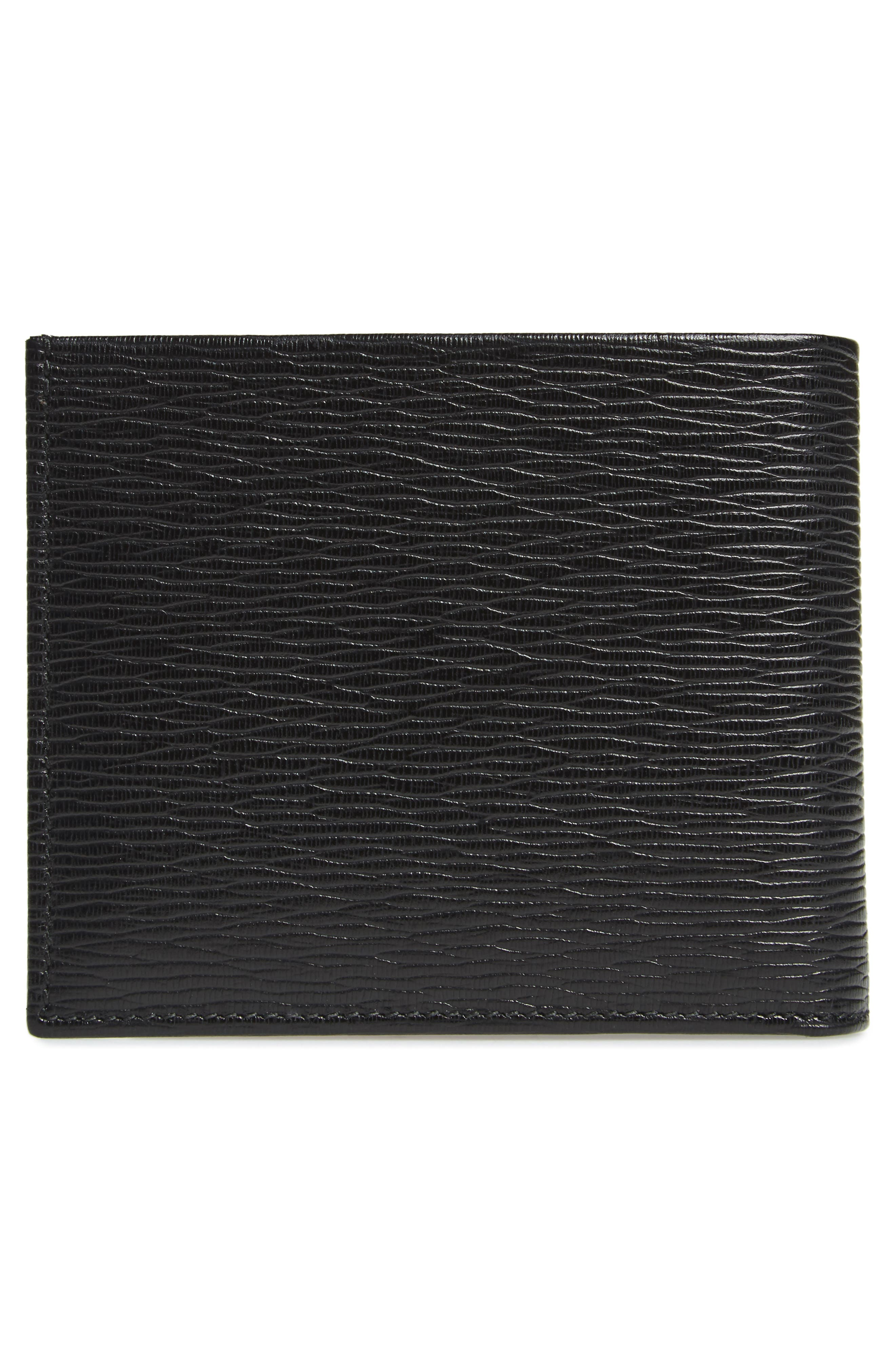 Revival Leather Wallet,                             Alternate thumbnail 3, color,                             Black/ Red