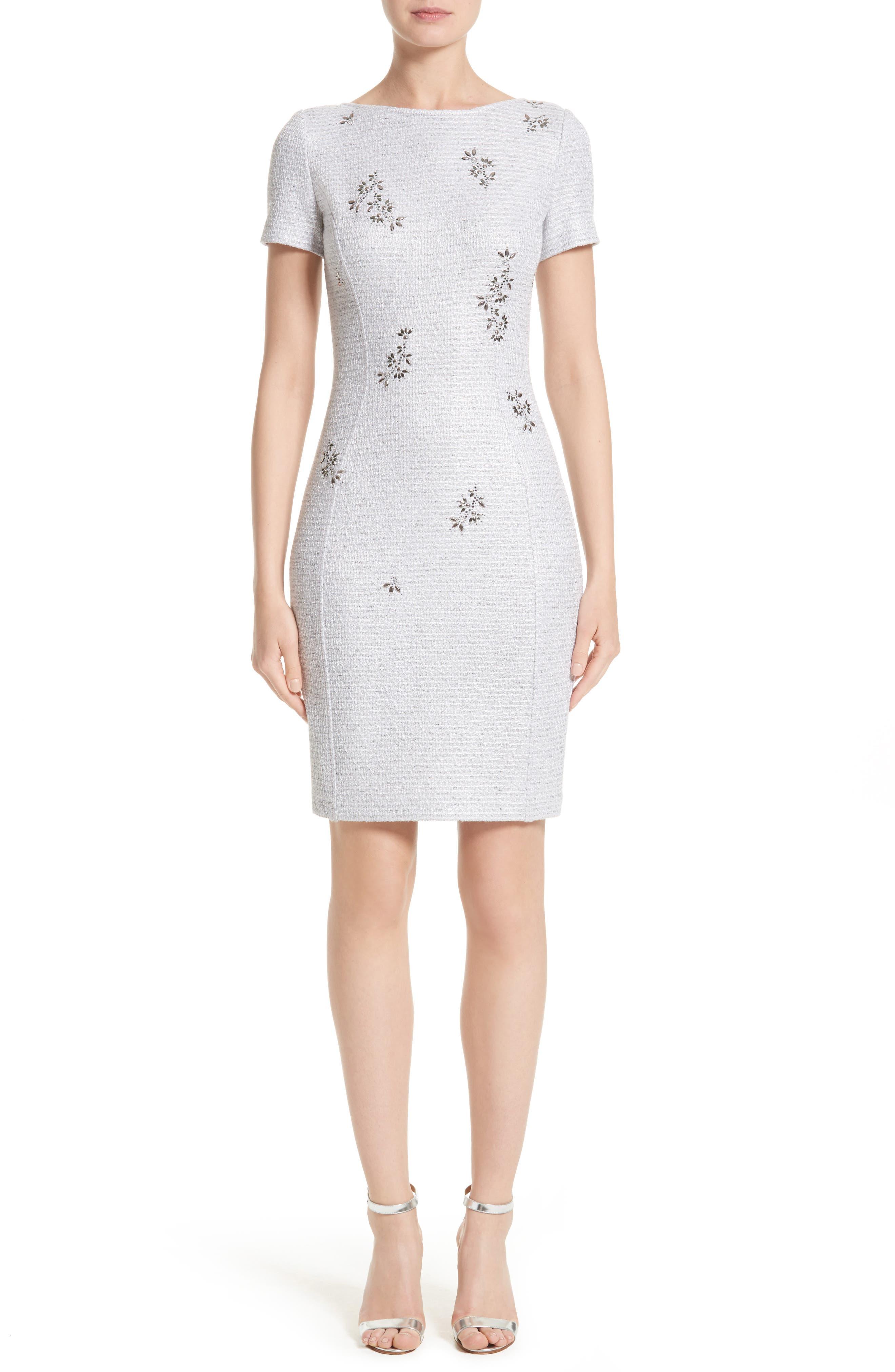 Embellished Shimmer Knit Dress,                         Main,                         color, Lavender