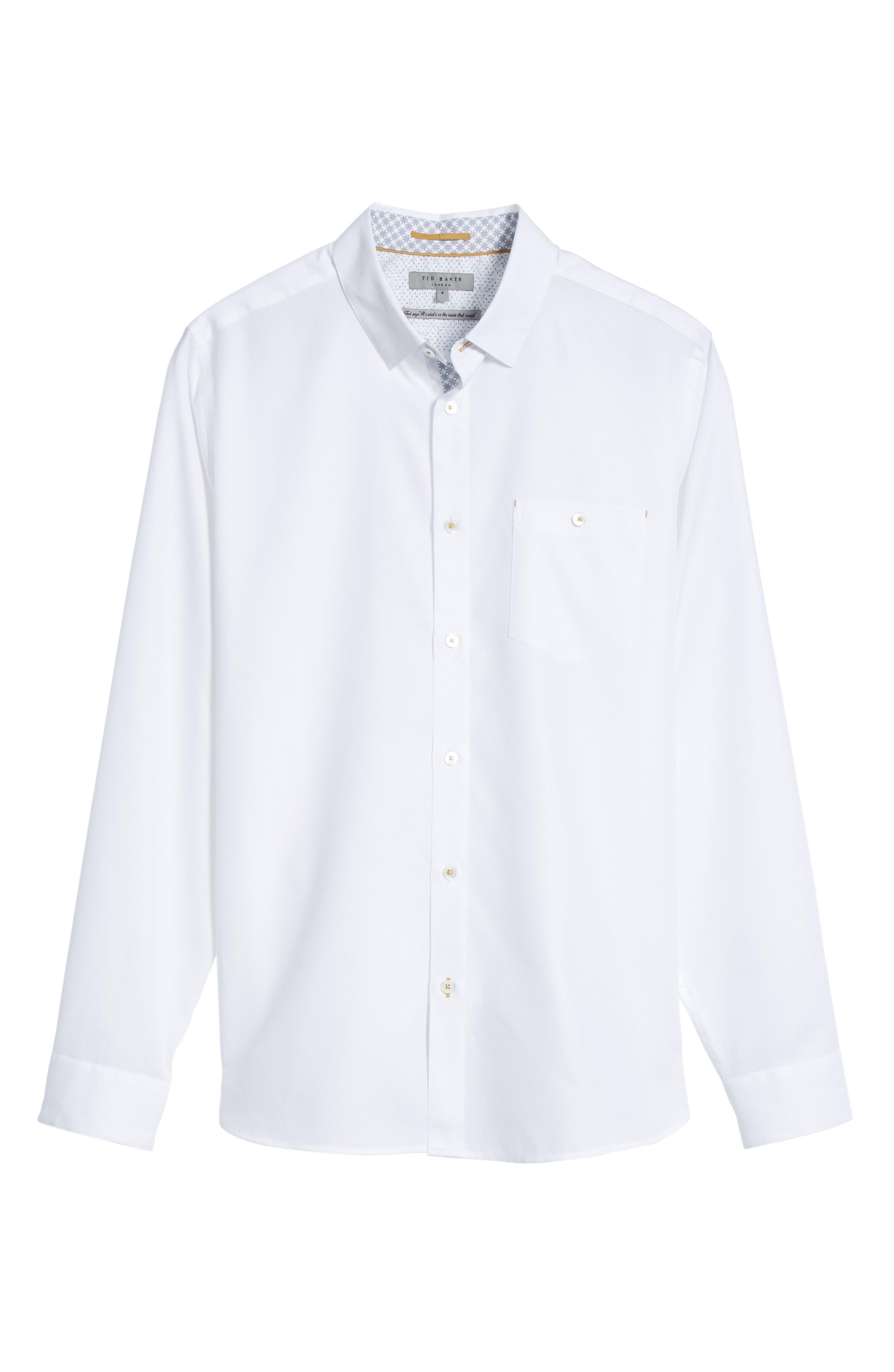 Alternate Image 5  - Ted Baker London Nordlux Modern Slim Fit Stretch Cotton Sport Shirt