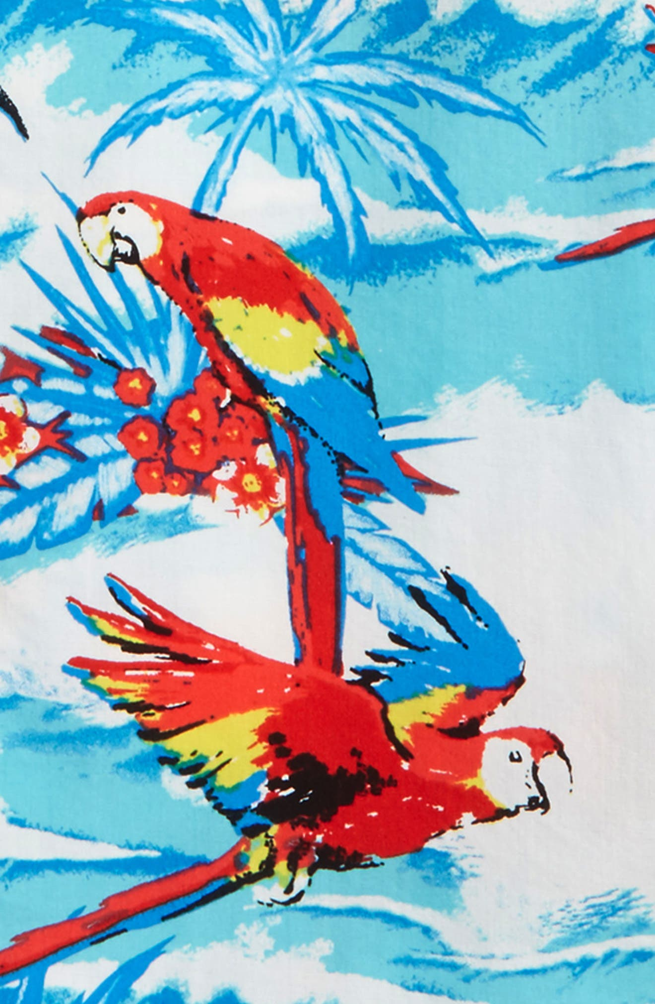 Macaw Sport Shirt,                             Alternate thumbnail 2, color,                             Pool