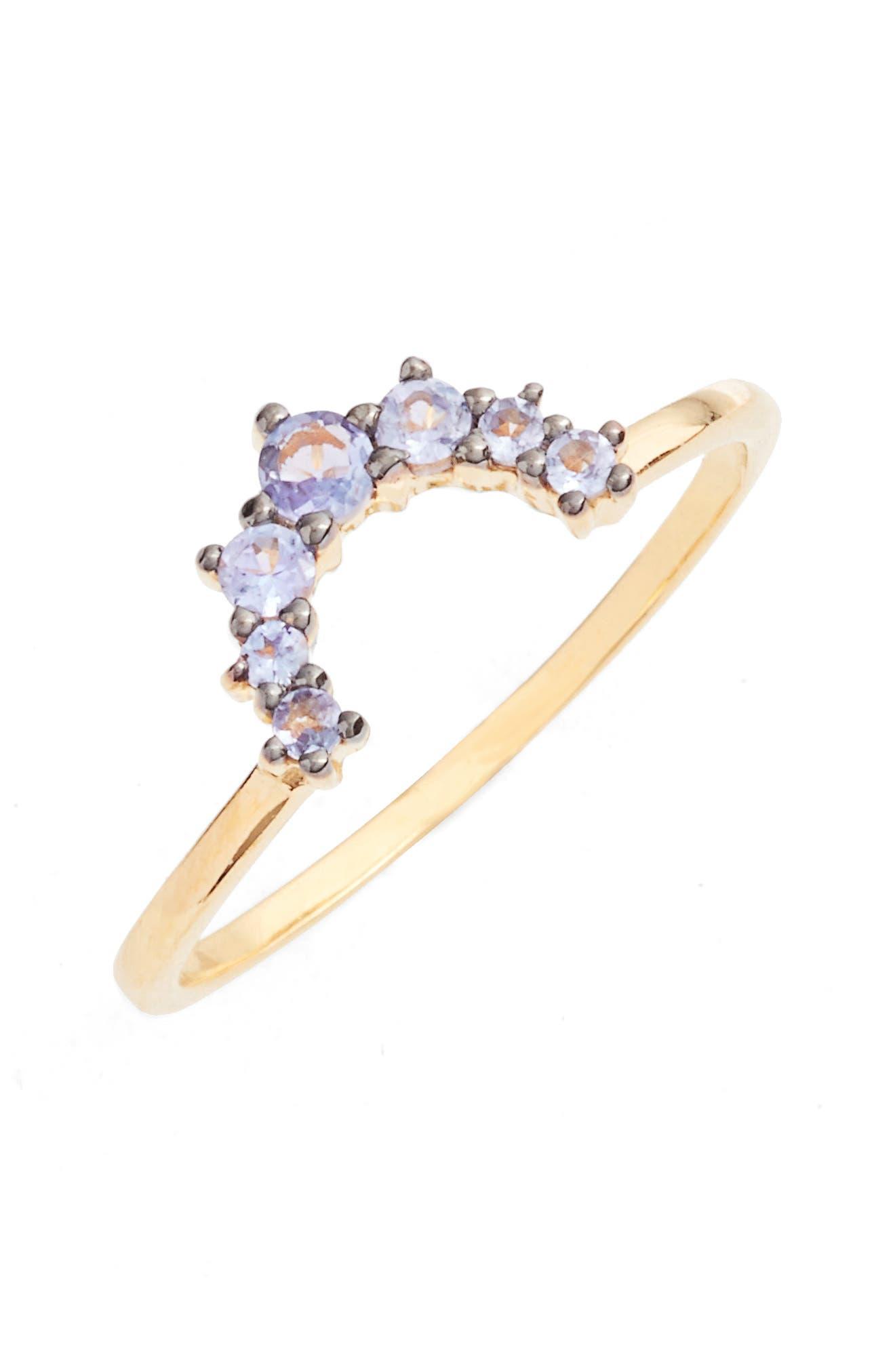 Main Image - Leah Alexandra Crescent Ring