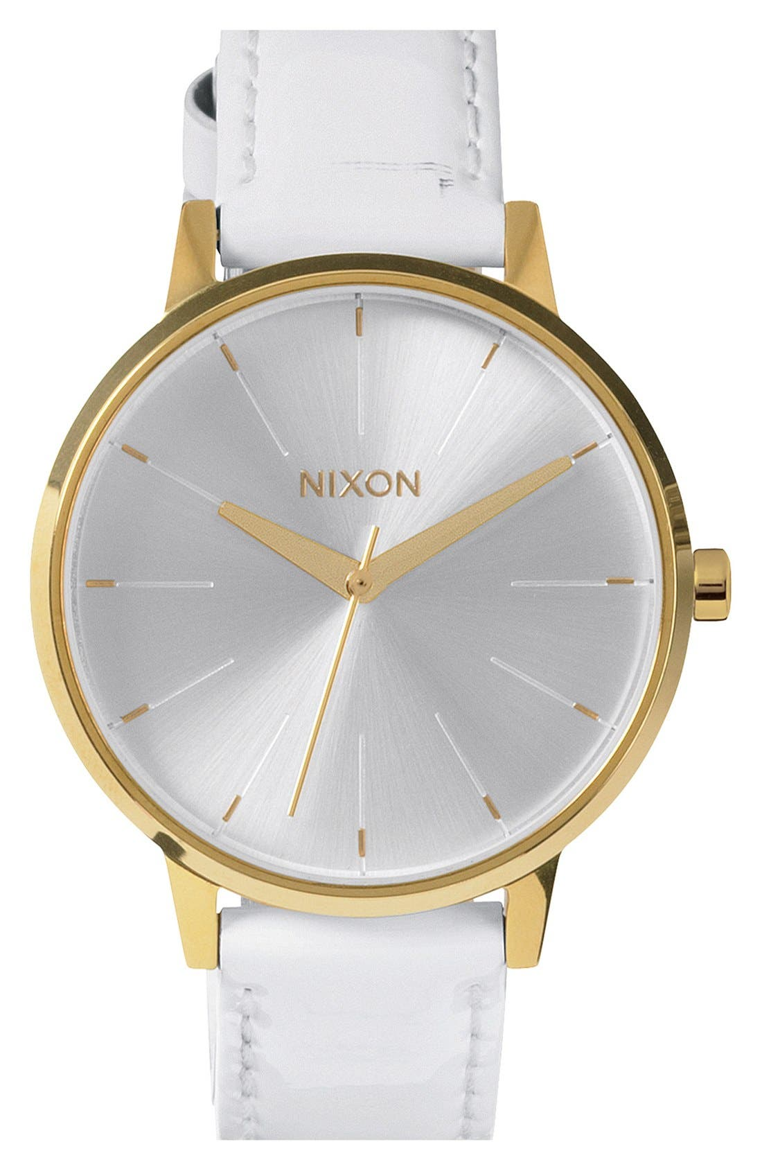 Alternate Image 1 Selected - Nixon 'The Kensington' Patent Leather Strap Watch, 37mm