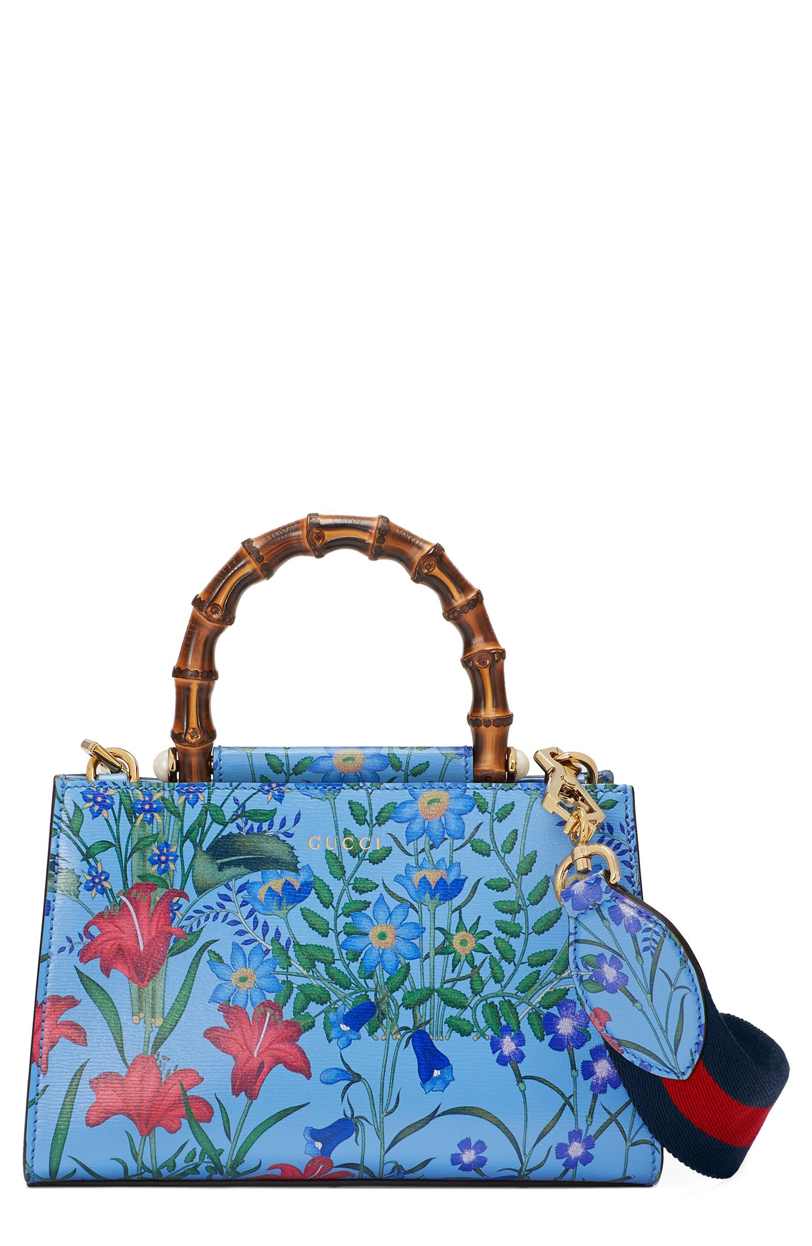 Alternate Image 1 Selected - Gucci Mini Nymphea Leather Top Handle Satchel