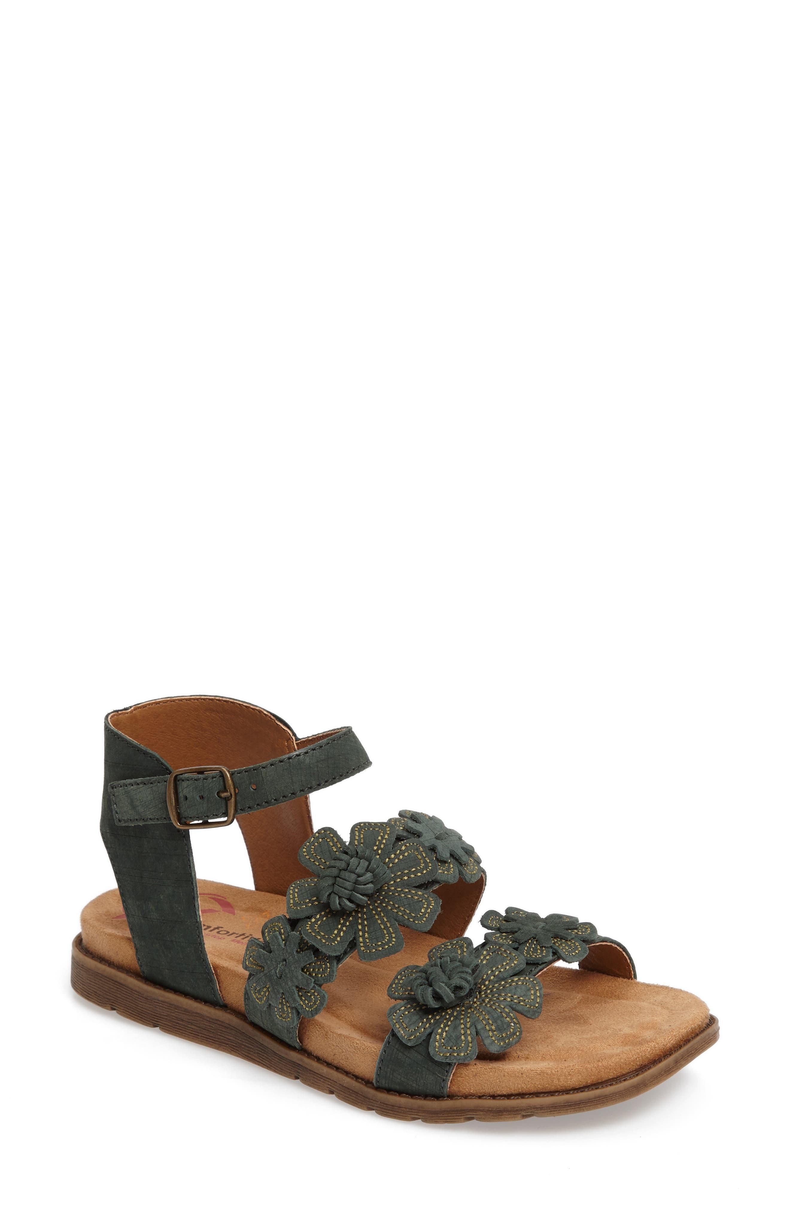 Comfortiva Alyssa Flower Appliqué Sandal (Women)