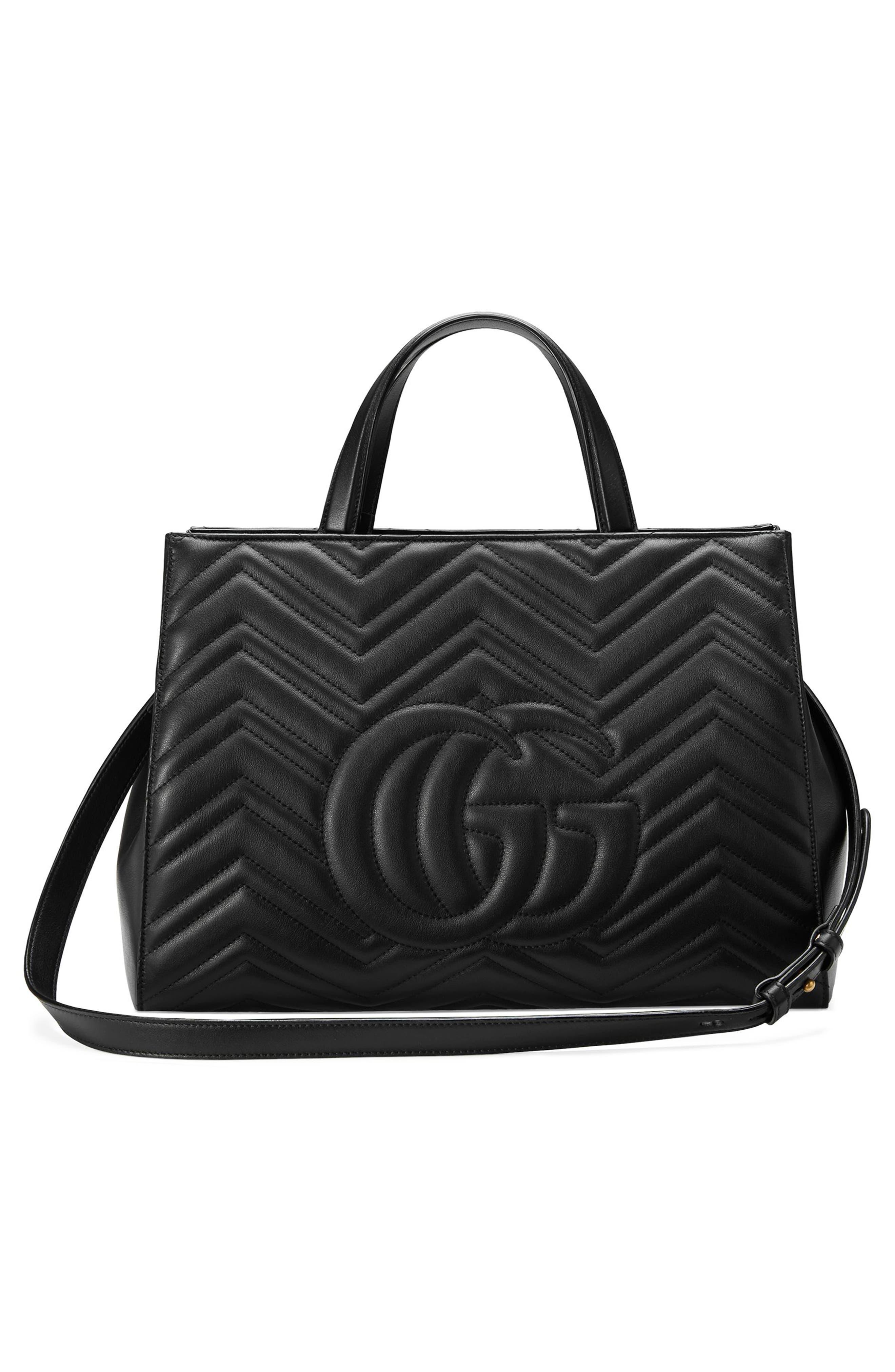 Alternate Image 2  - Gucci GG Marmont Medium Matelassé Leather Top Handle Shoulder Bag