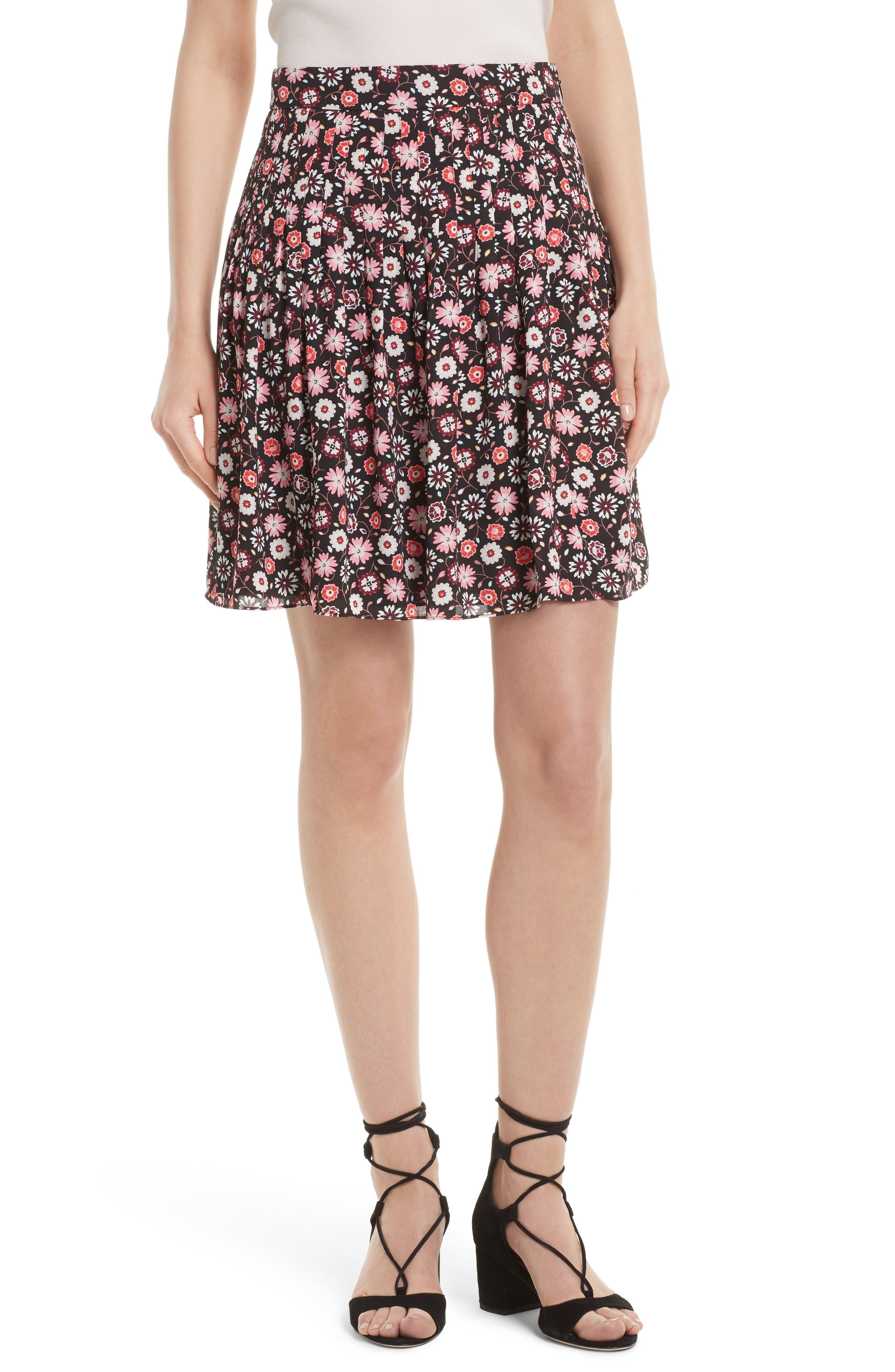 kate spade new york mini casa flora pleated skirt