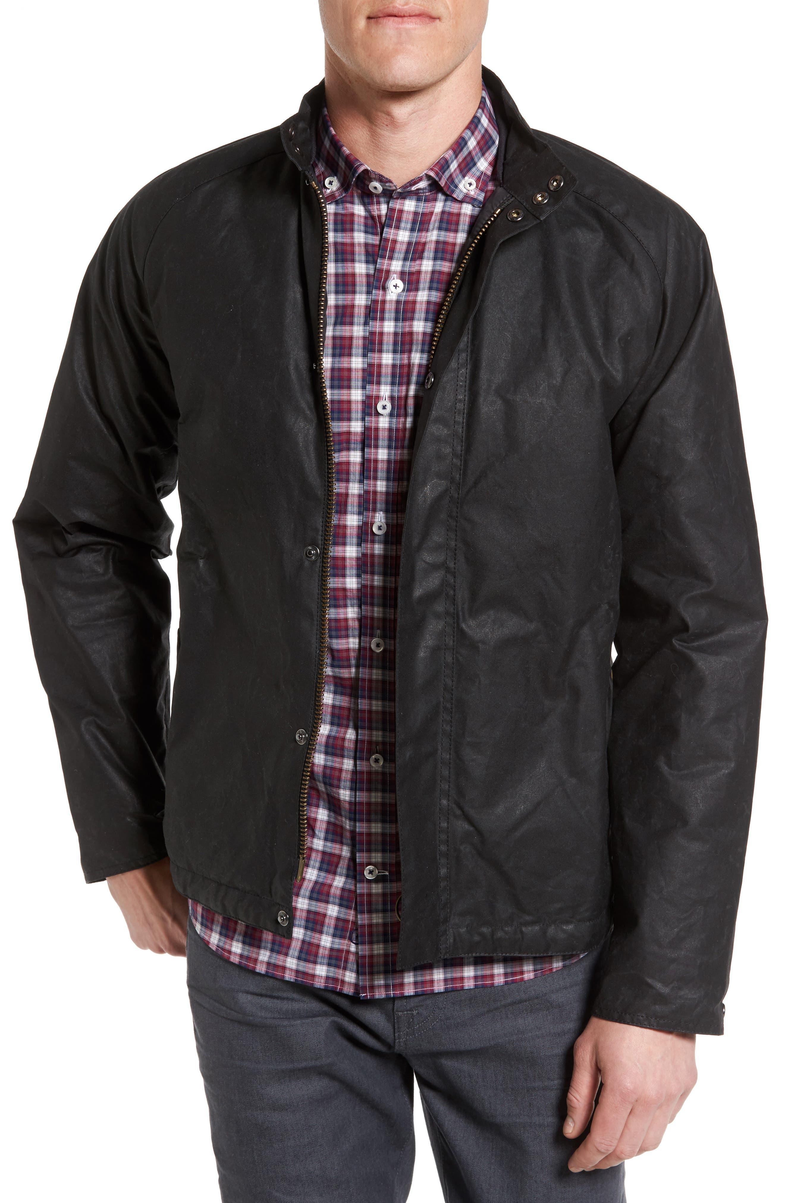 Chrome Slim Fit Water Repellent Jacket,                         Main,                         color, Black