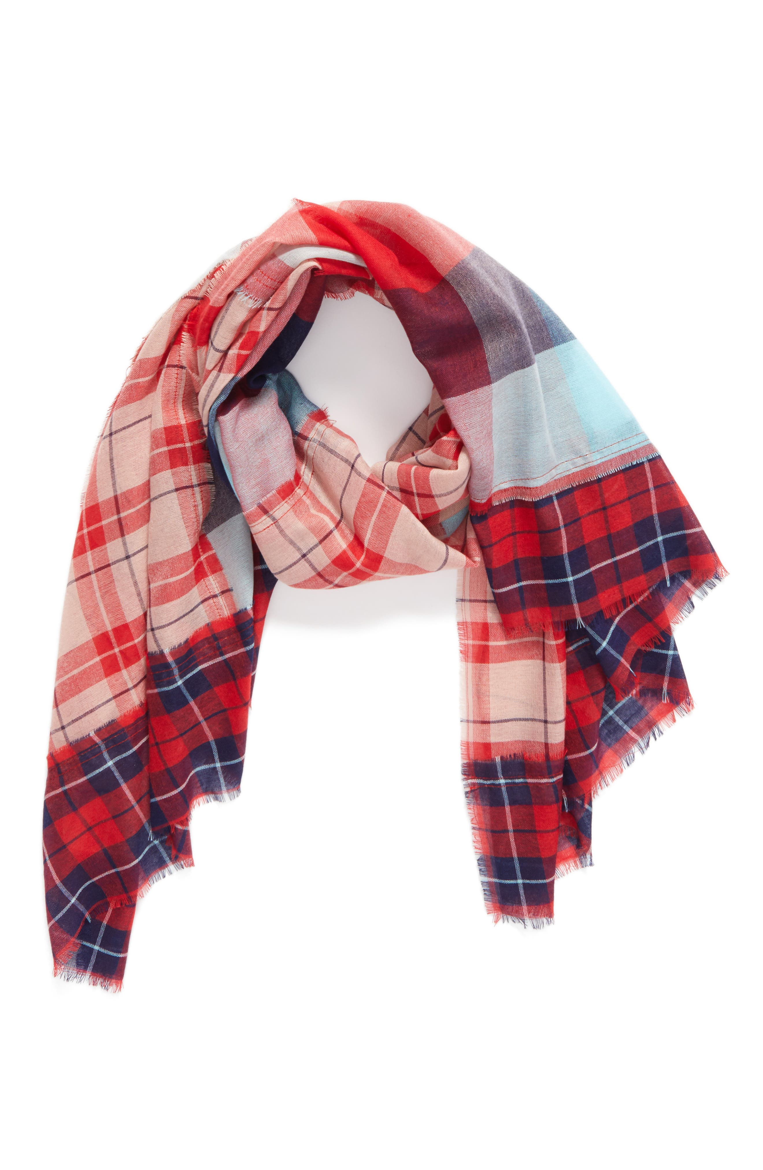 Alternate Image 2  - BP. Stitch Patchwork Plaid Scarf