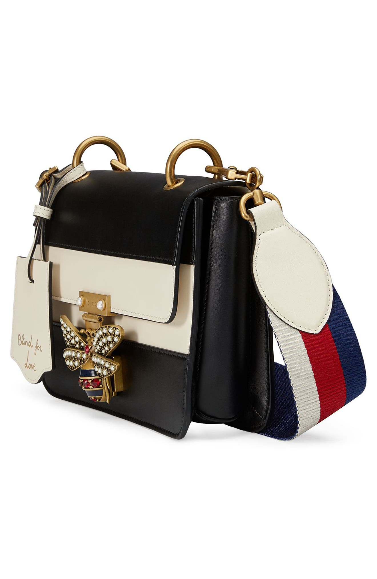Alternate Image 4  - Gucci Queen Margaret Stripe Leather Shoulder Bag