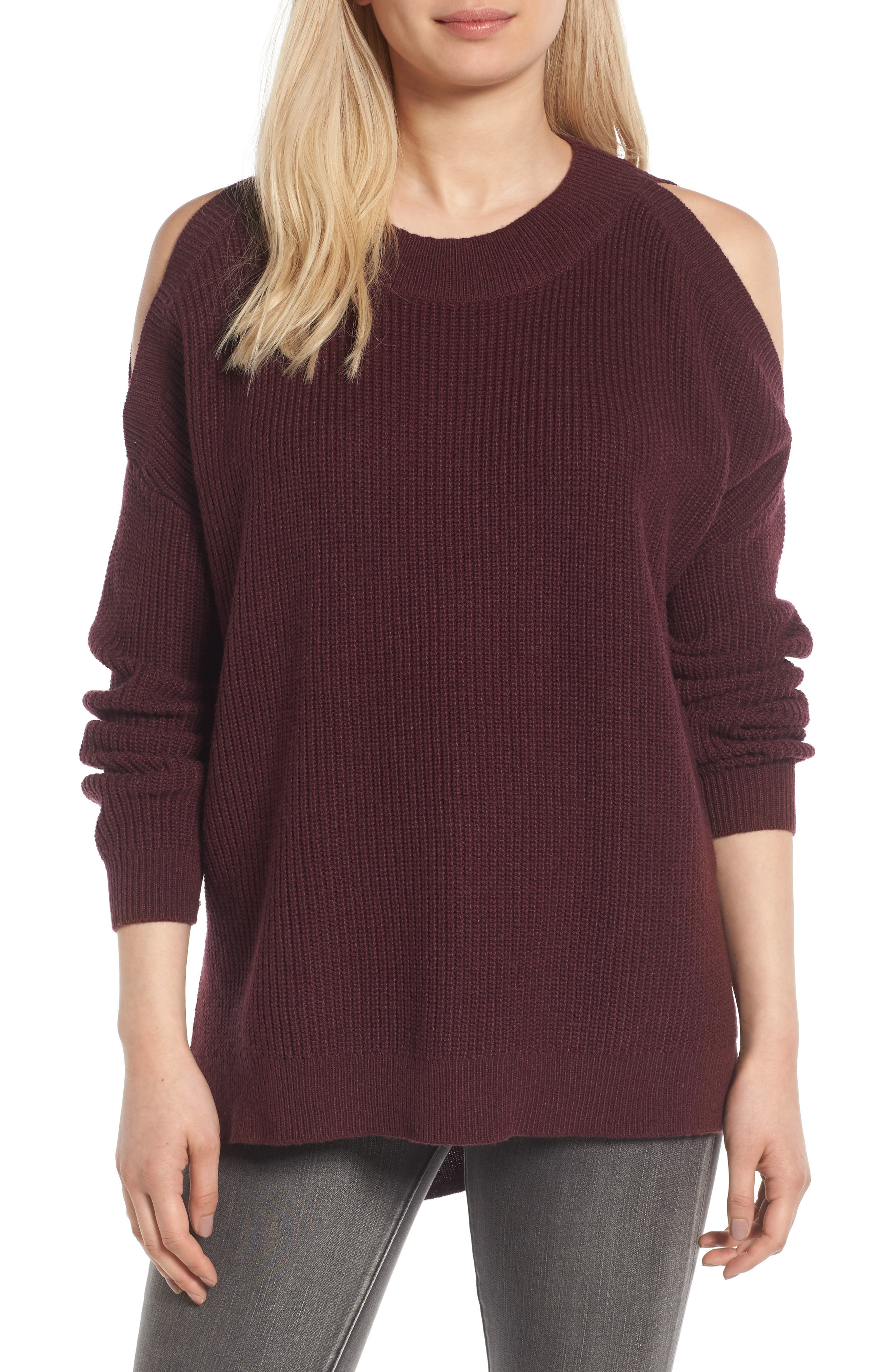 Alternate Image 1 Selected - BP. Cold Shoulder Tunic Sweater