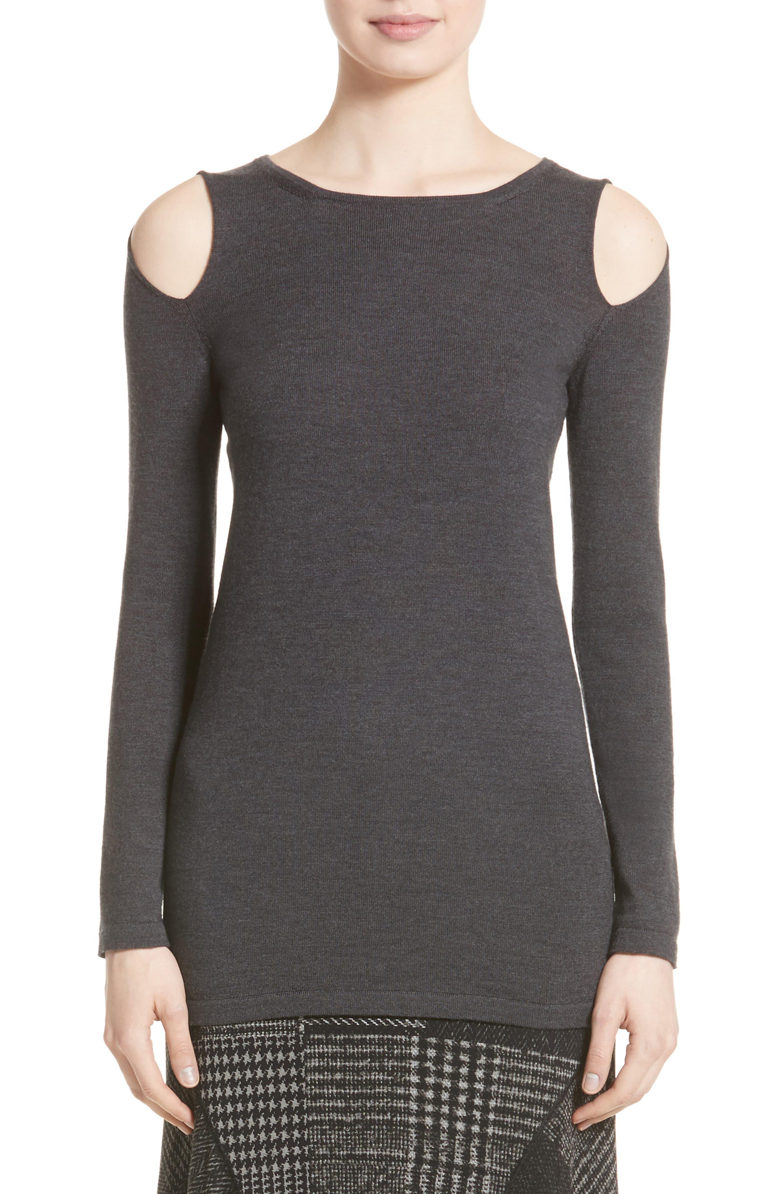 Alternate Image 1 Selected - Fuzzi Cutout Merino Wool Sweater