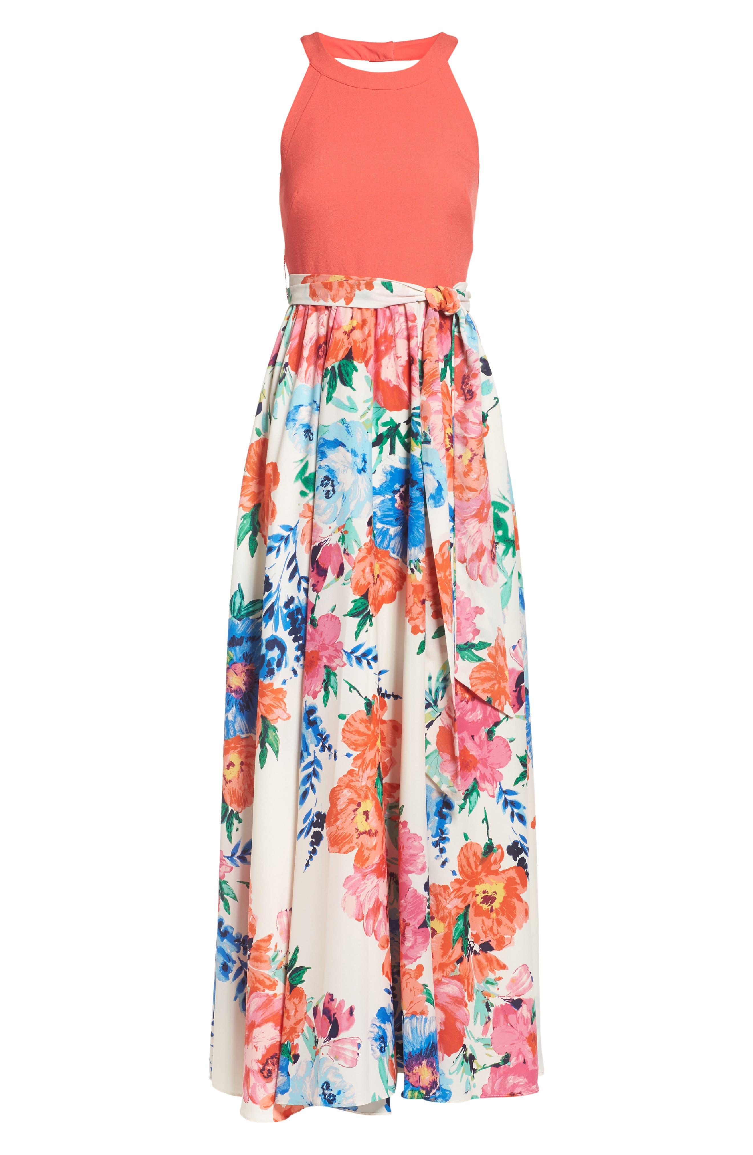 Alternate Image 6  - Eliza J Crepe Maxi Dress