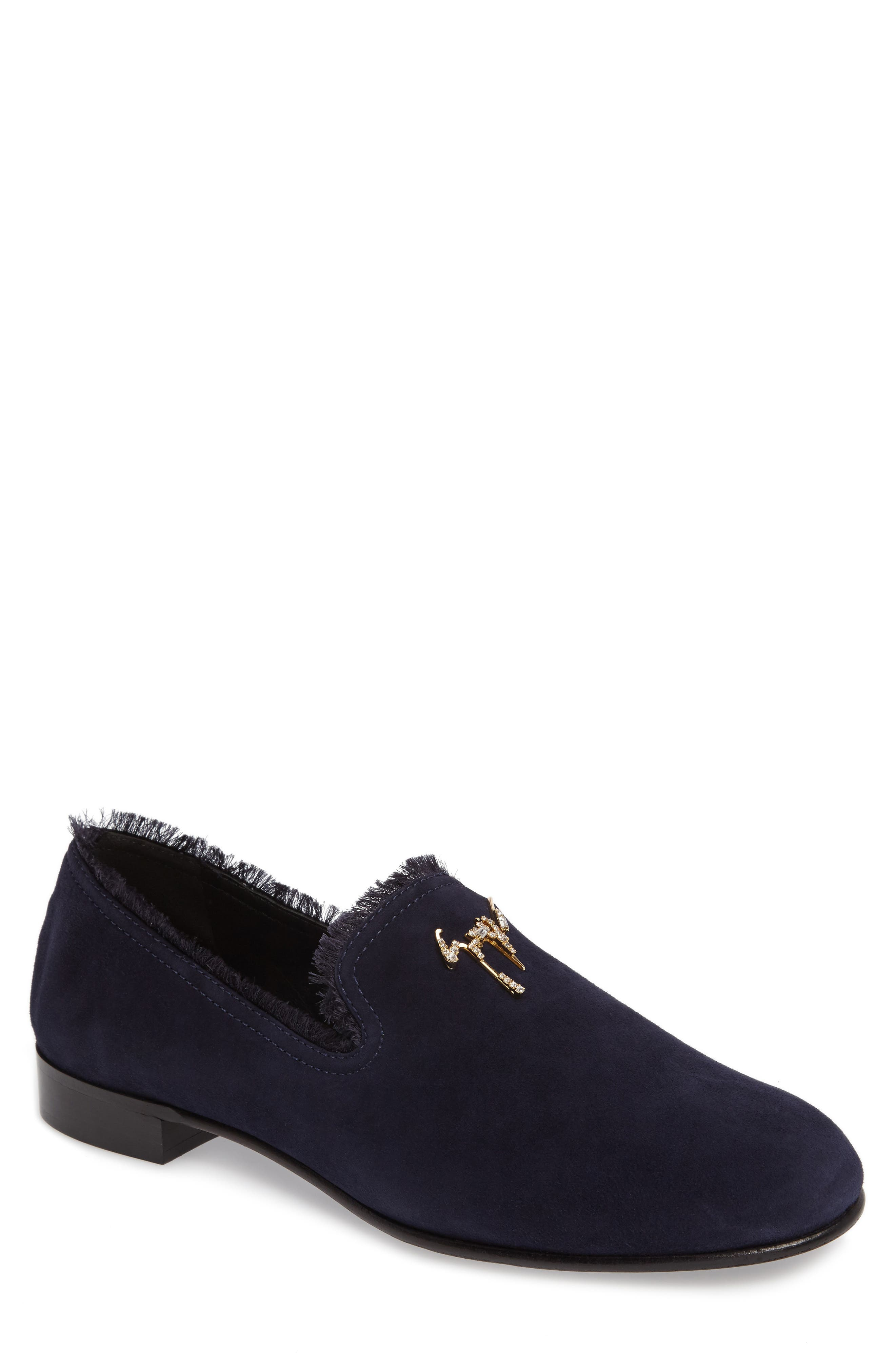 Smoking Slipper,                         Main,                         color, Can Nuit Blue