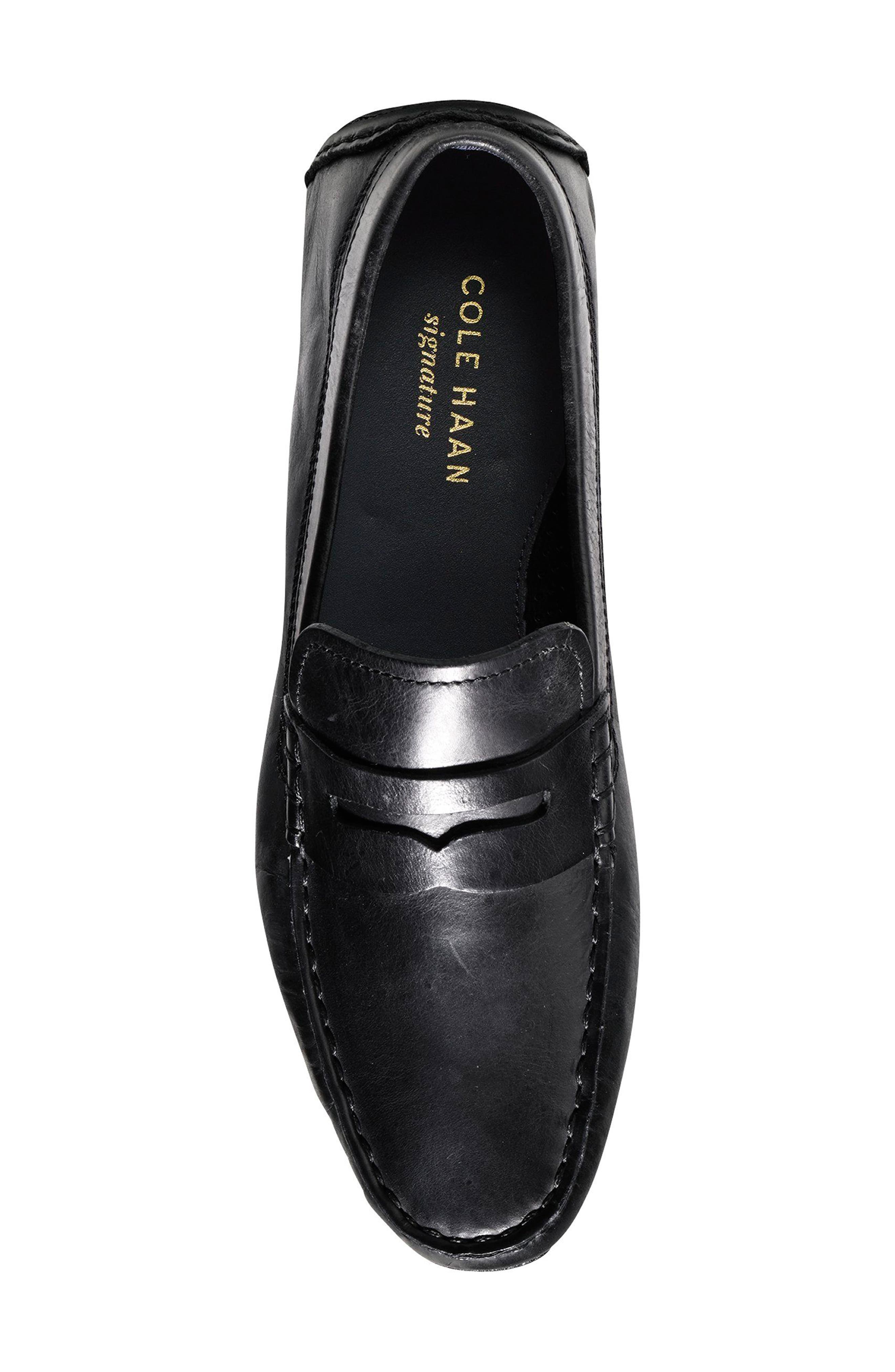 Kelson Driving Shoe,                             Alternate thumbnail 4, color,                             Black