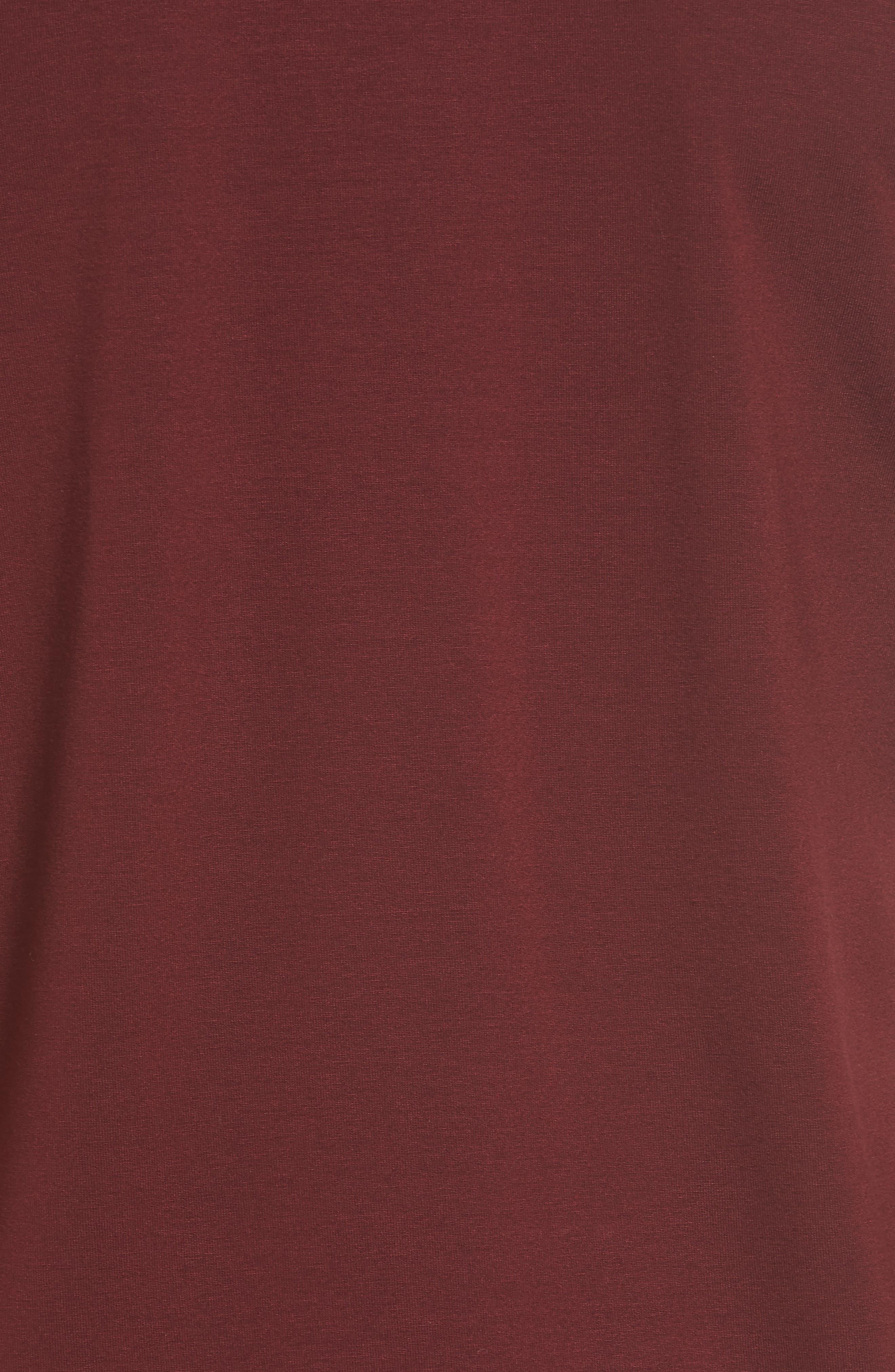 Scrunch Neck Jersey Top,                             Alternate thumbnail 5, color,                             Claret