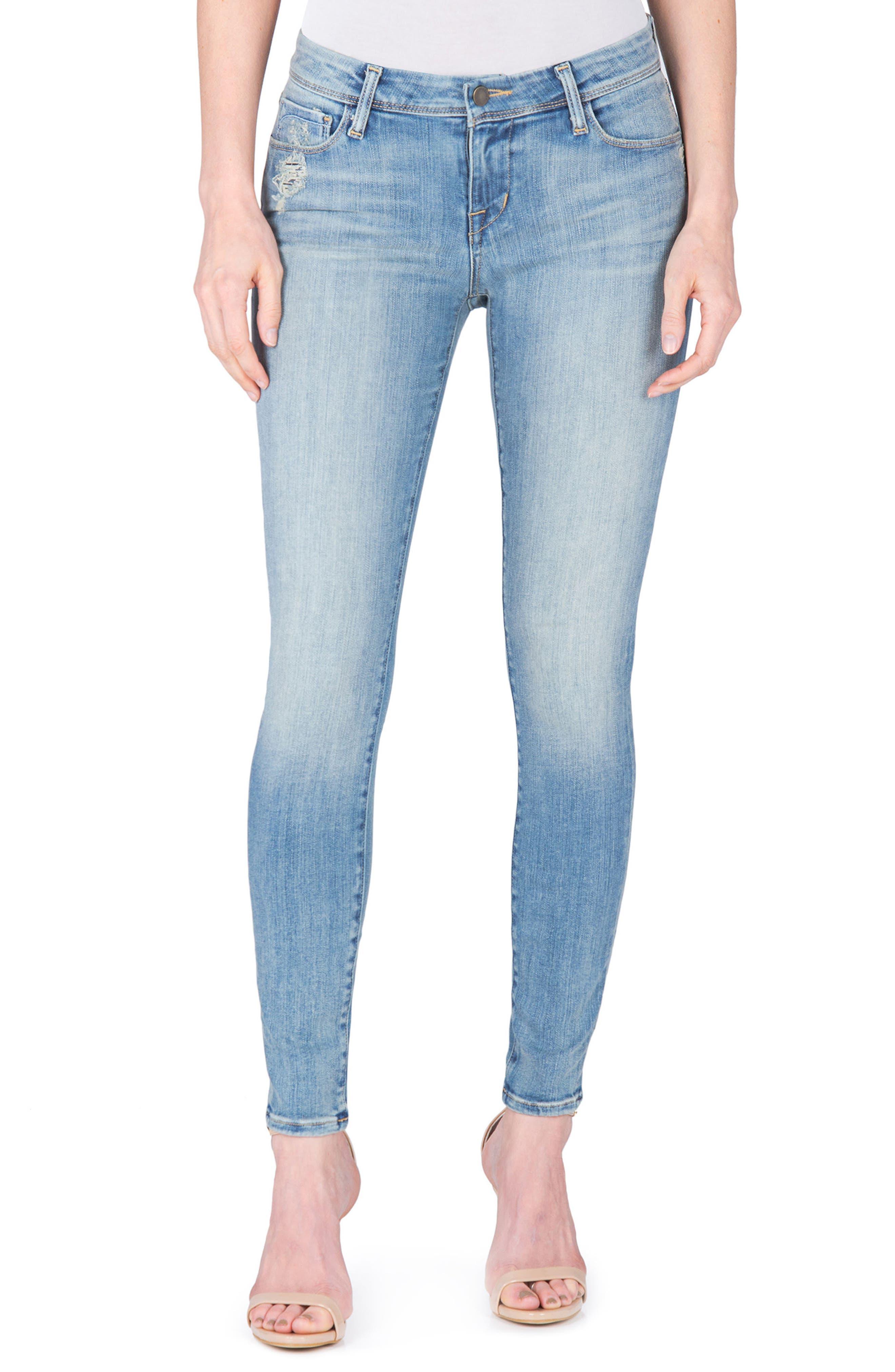 Mila Ankle Skinny Jeans,                         Main,                         color, Princeton