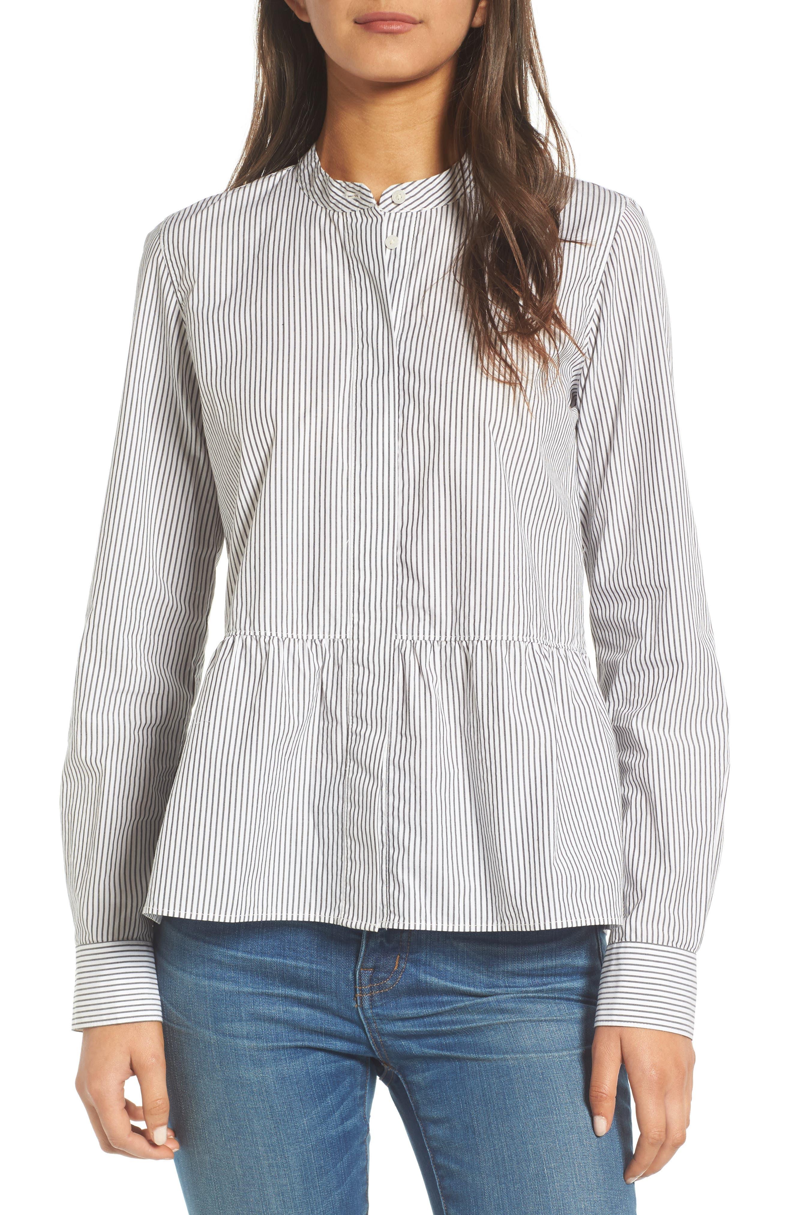 Alternate Image 1 Selected - Madewell Peplum Shirt