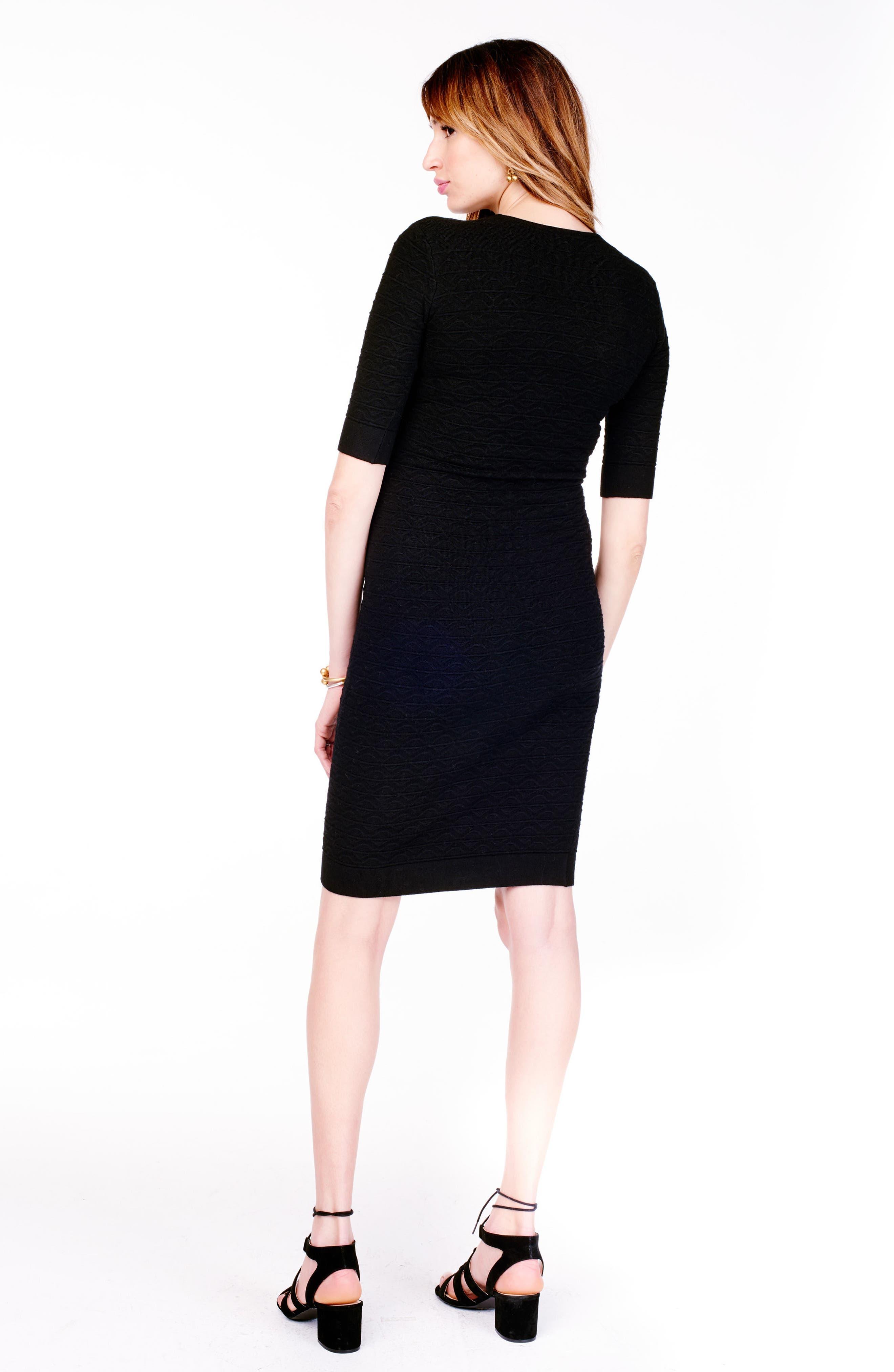 Sweater Knit Maternity Sheath Dress,                             Alternate thumbnail 2, color,                             Jet Black