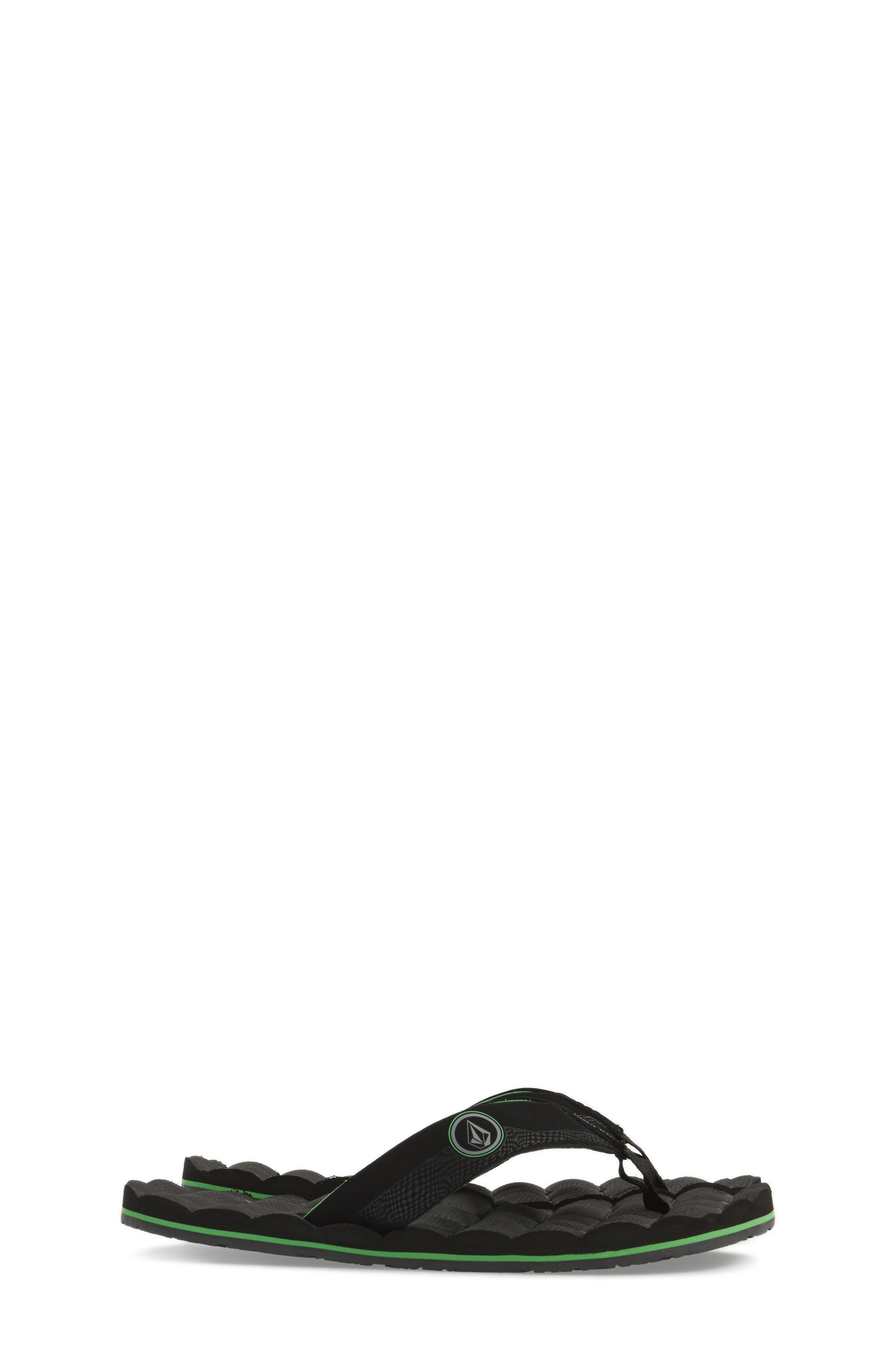Alternate Image 3  - Volcom Recliner Flip Flop (Little Kid & Big Kid)