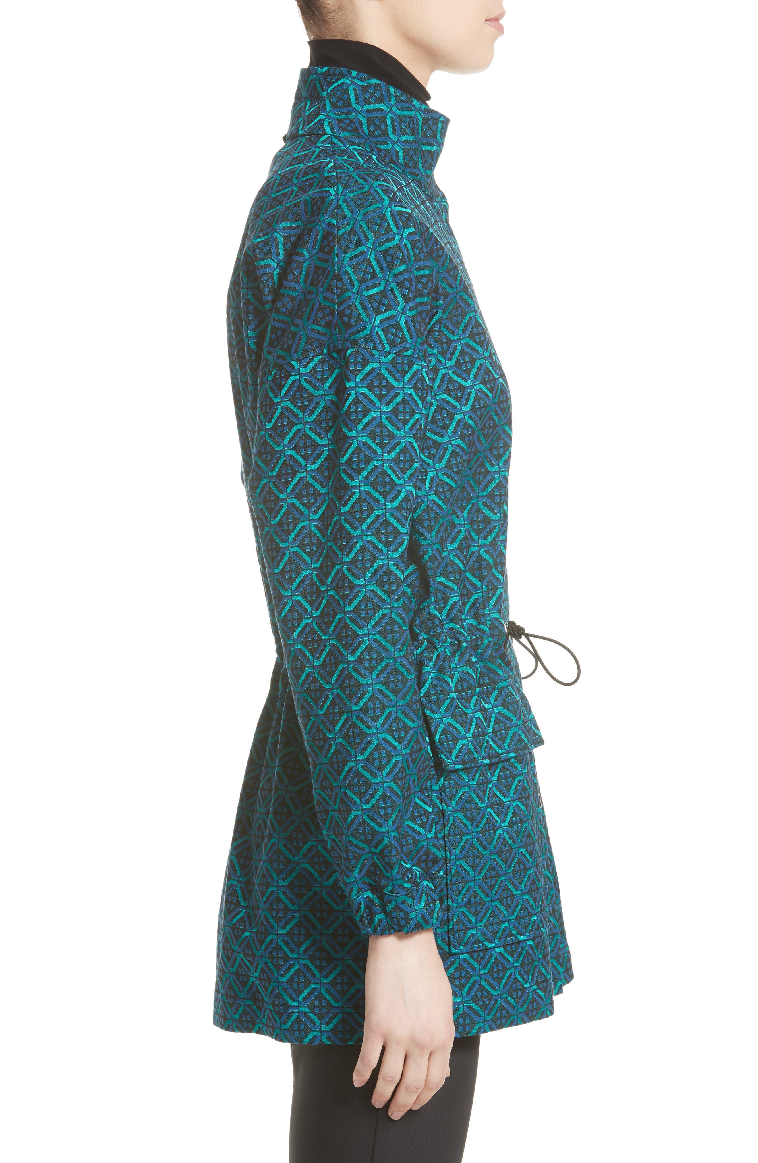 Alternate Image 3  - St. John Collection Tile Jacquard Funnel Neck Jacket