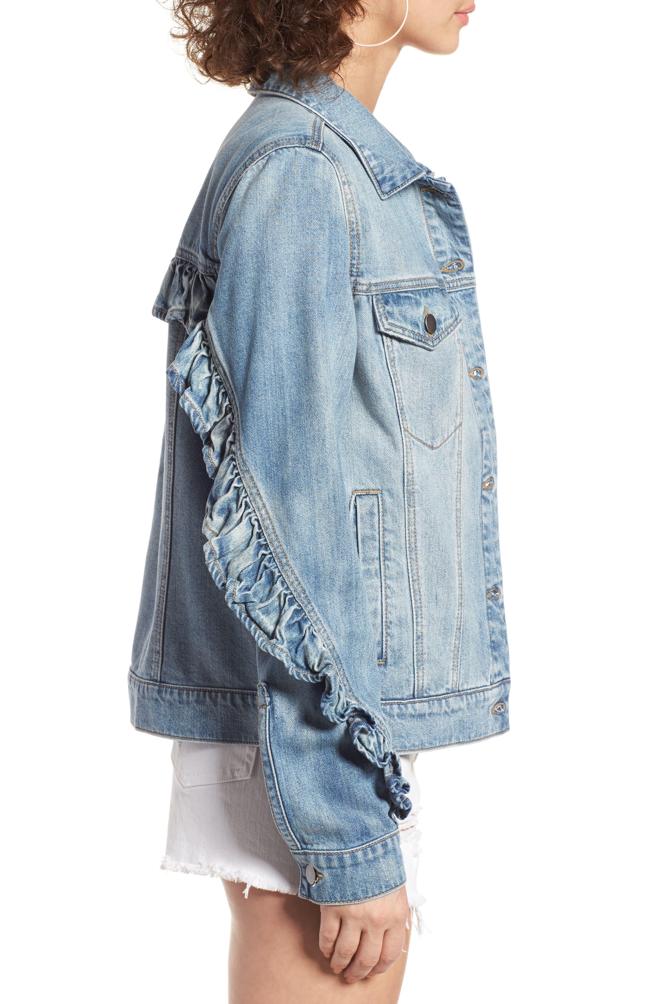 Alternate Image 3  - BP. Ruffle Denim Jacket