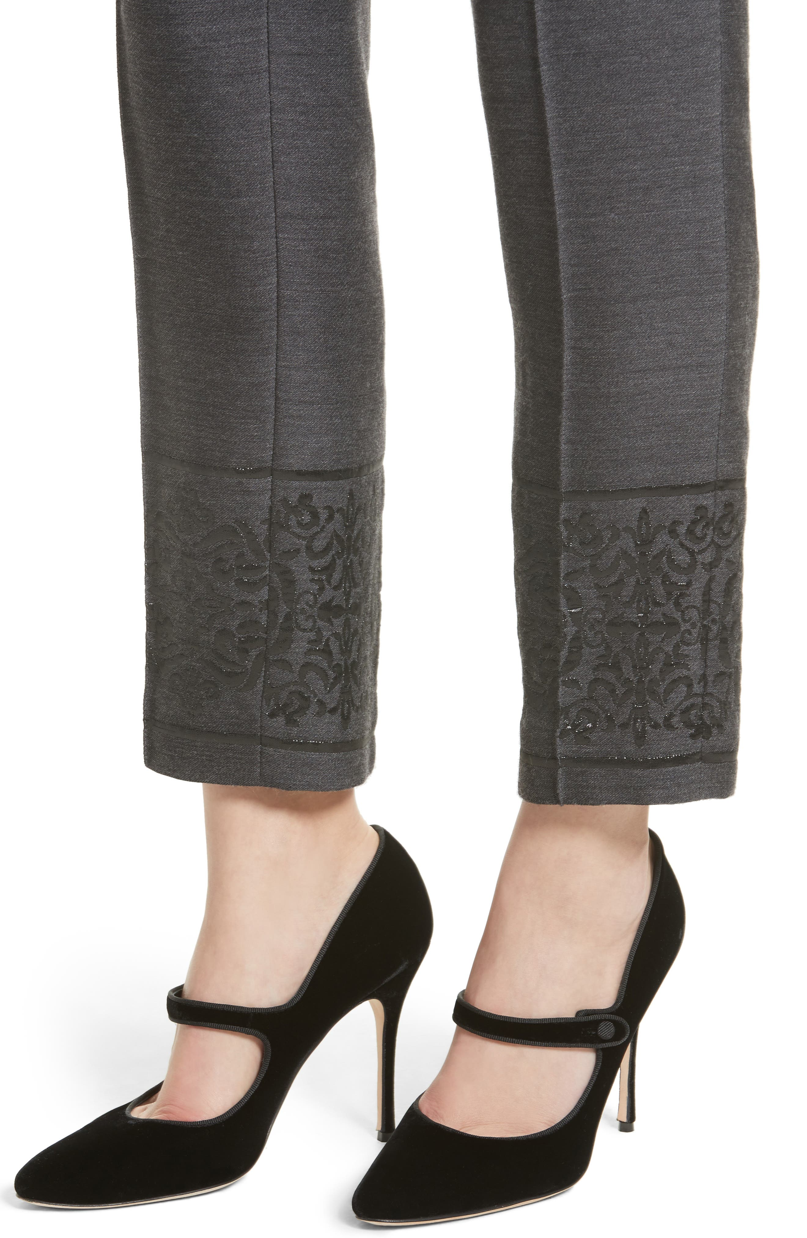 Alternate Image 4  - St. John Collection Shavari Jacquard Crop Pants